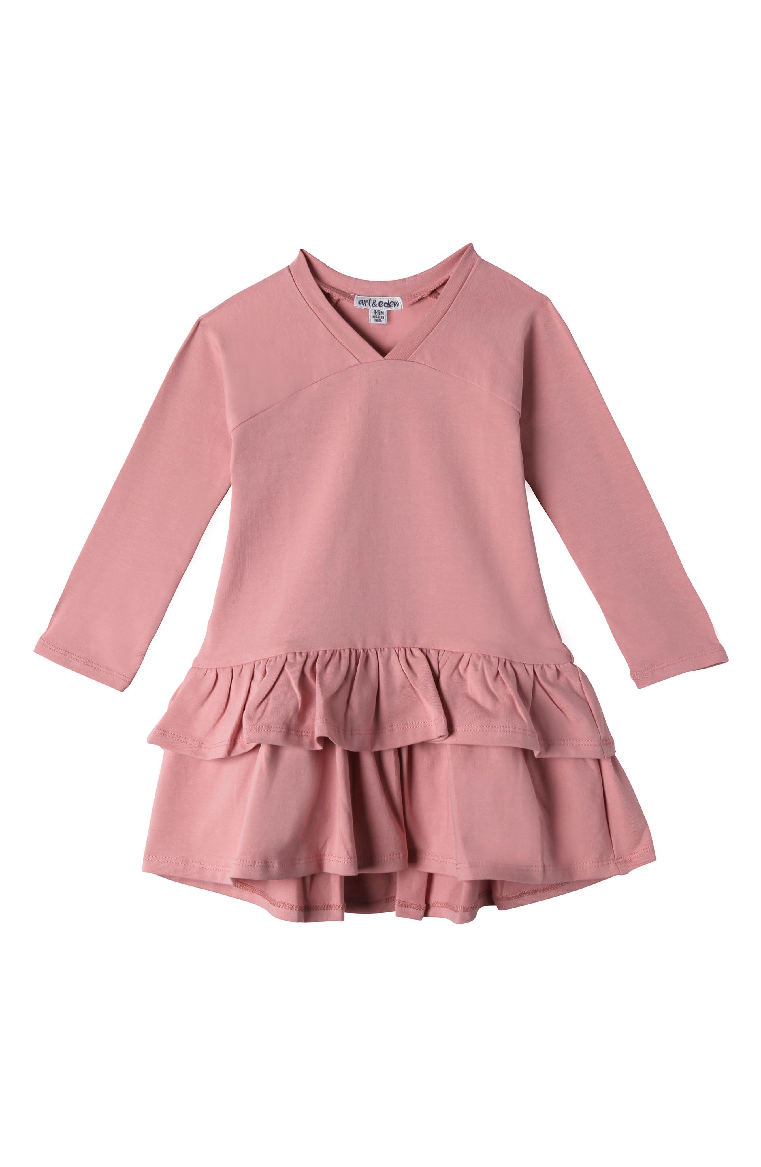 Mini Julia Ruffle Dress,                         Main,                         color, Sweet Rose