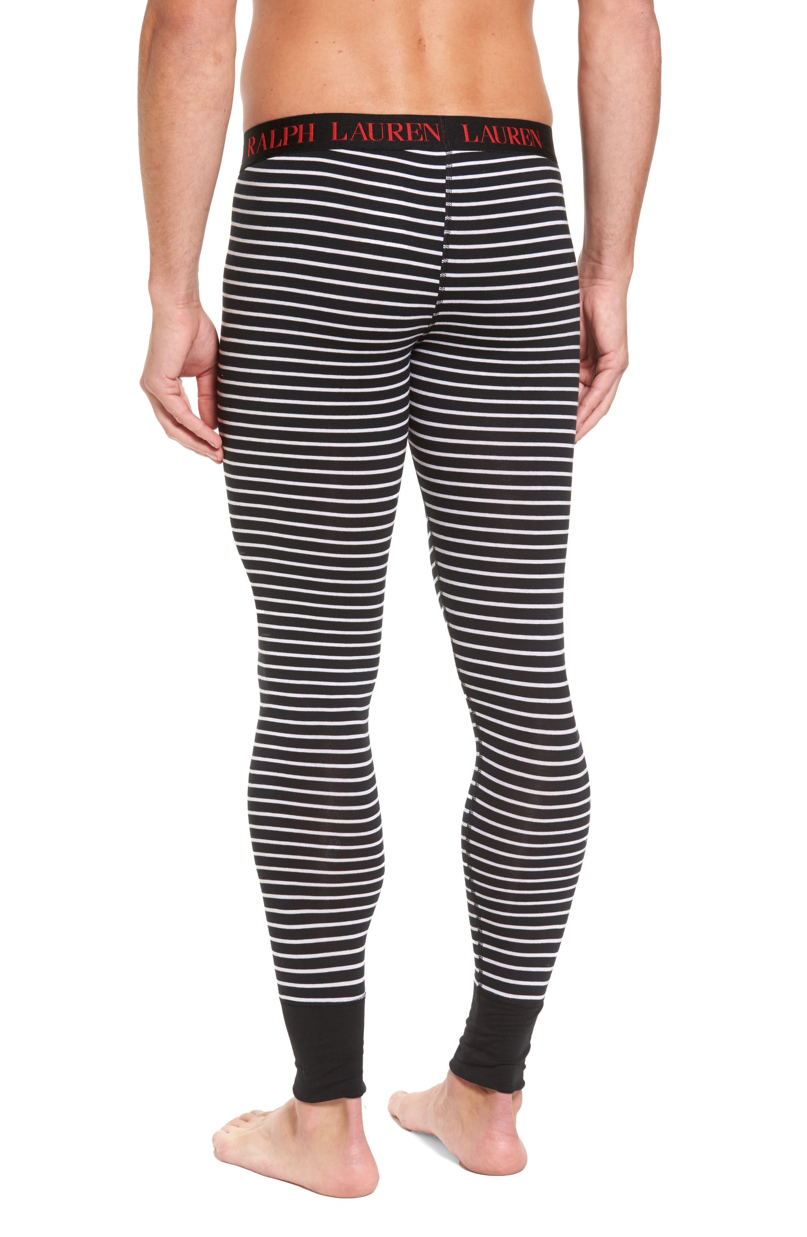 Long Underwear,                             Alternate thumbnail 2, color,                             Polo Black Stripe
