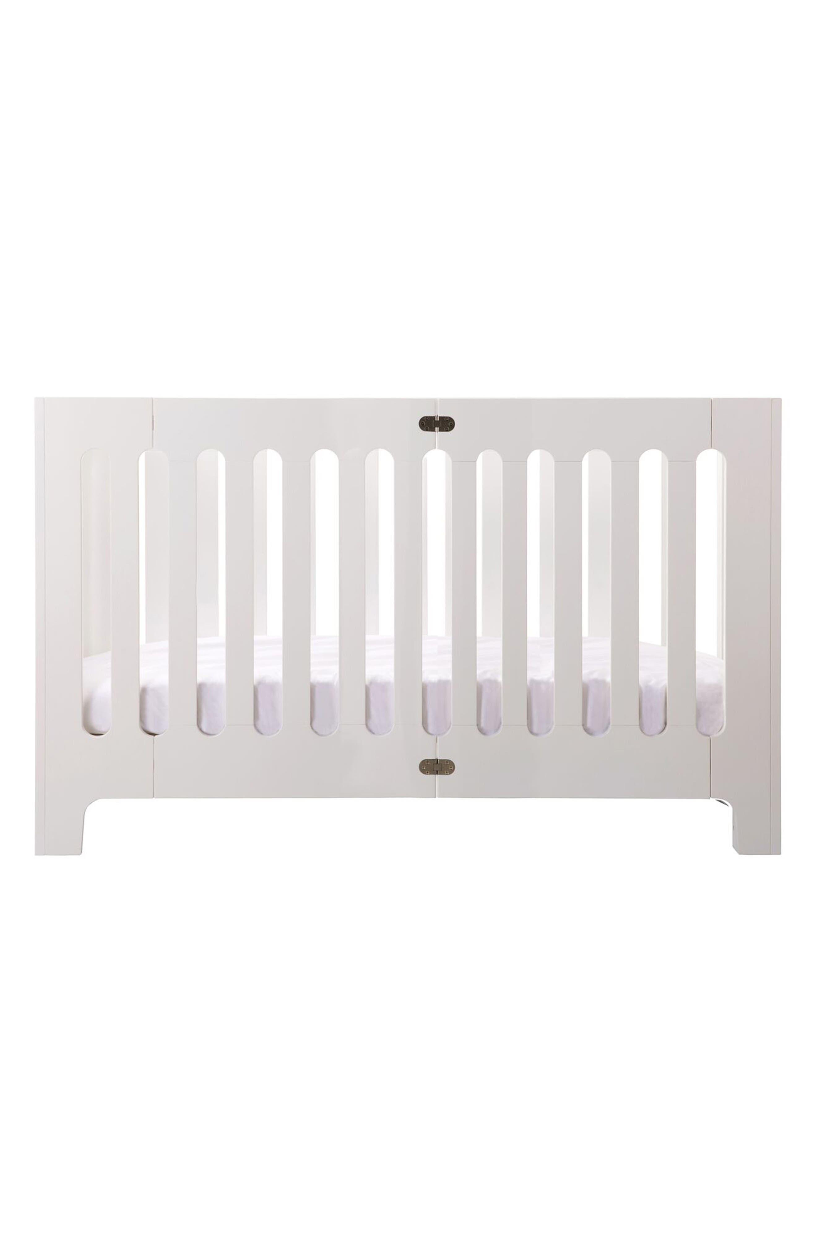 Baby Alma Max Standard Size Solid Wood Crib,                         Main,                         color, Coconut White
