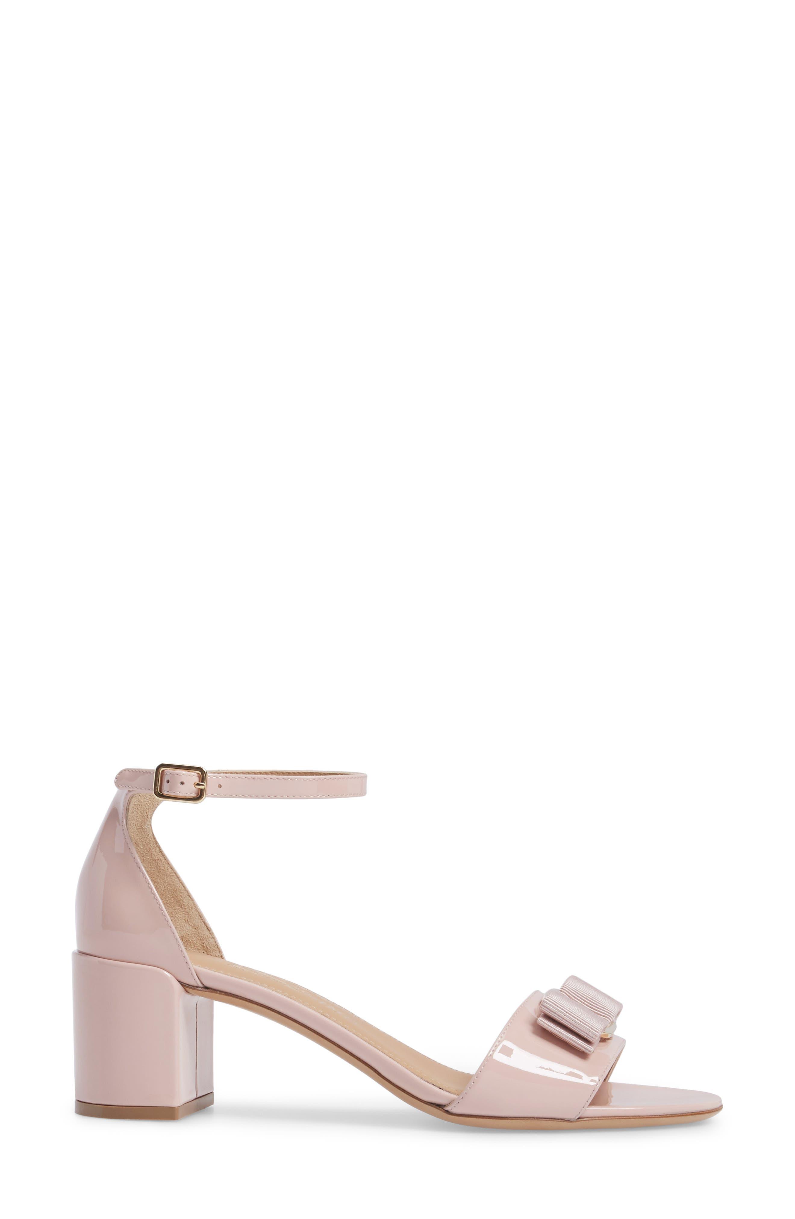 Gavina Ankle Strap Sandal,                             Alternate thumbnail 3, color,                             Bon Bon Pink