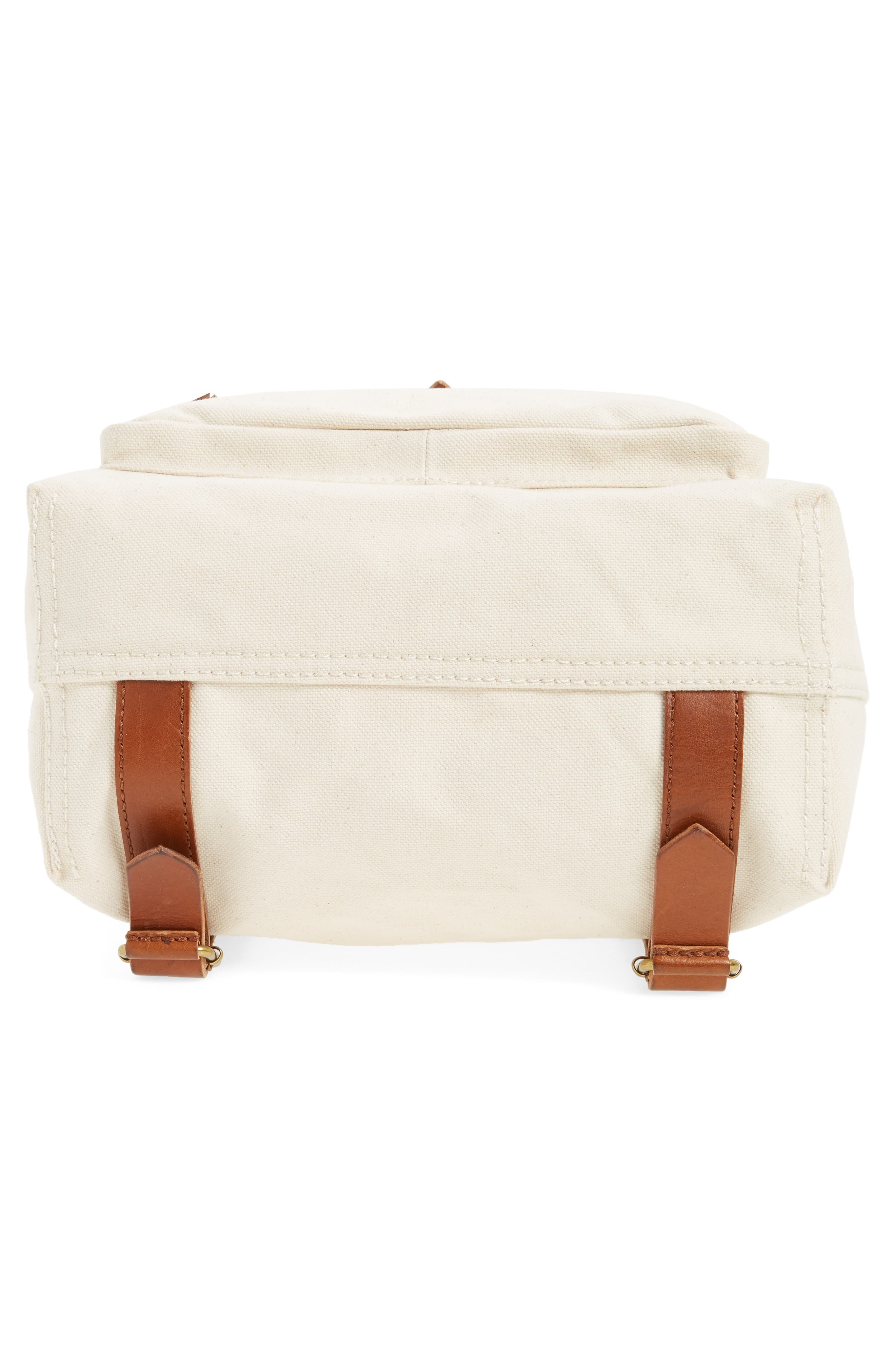 The Canvas Foldover Backpack,                             Alternate thumbnail 6, color,                             Vintage Canvas