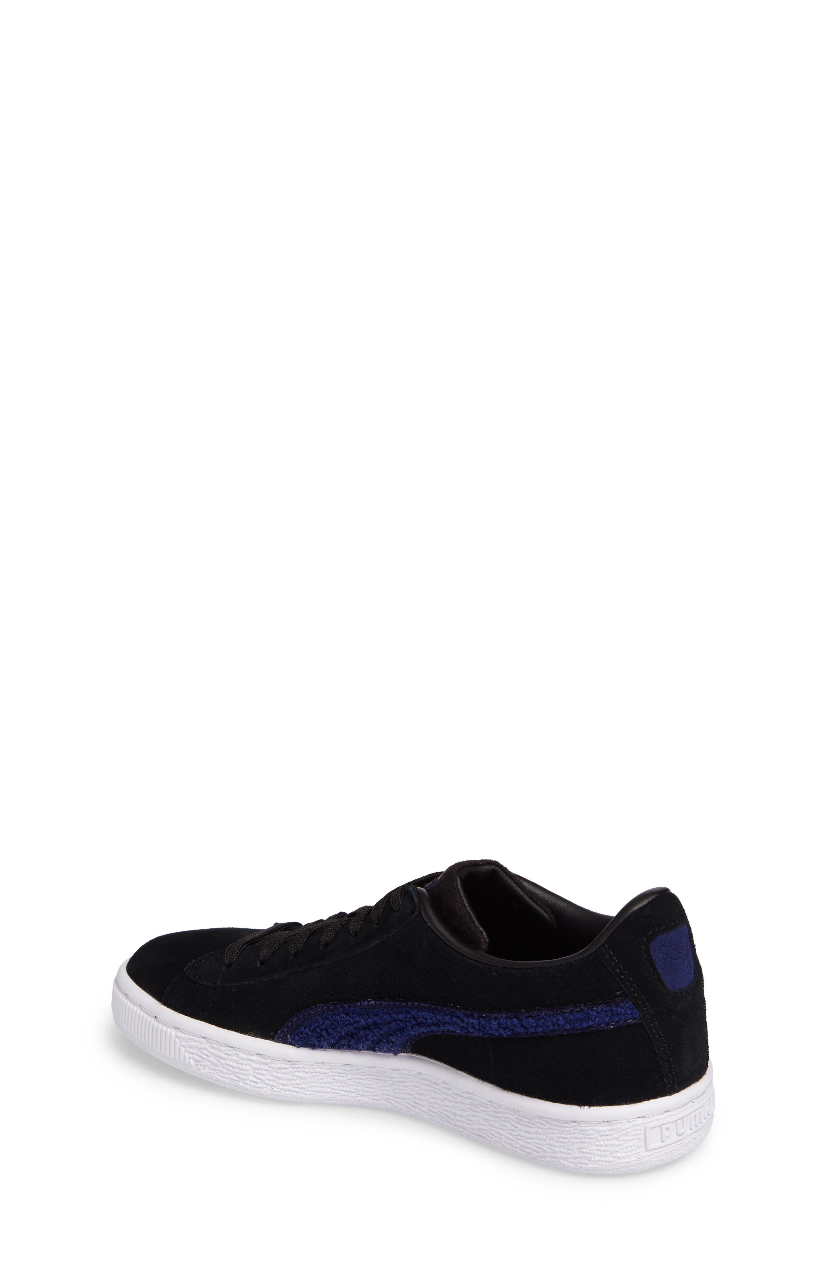 Classic Terry Jr Sneaker,                             Alternate thumbnail 2, color,                             Black