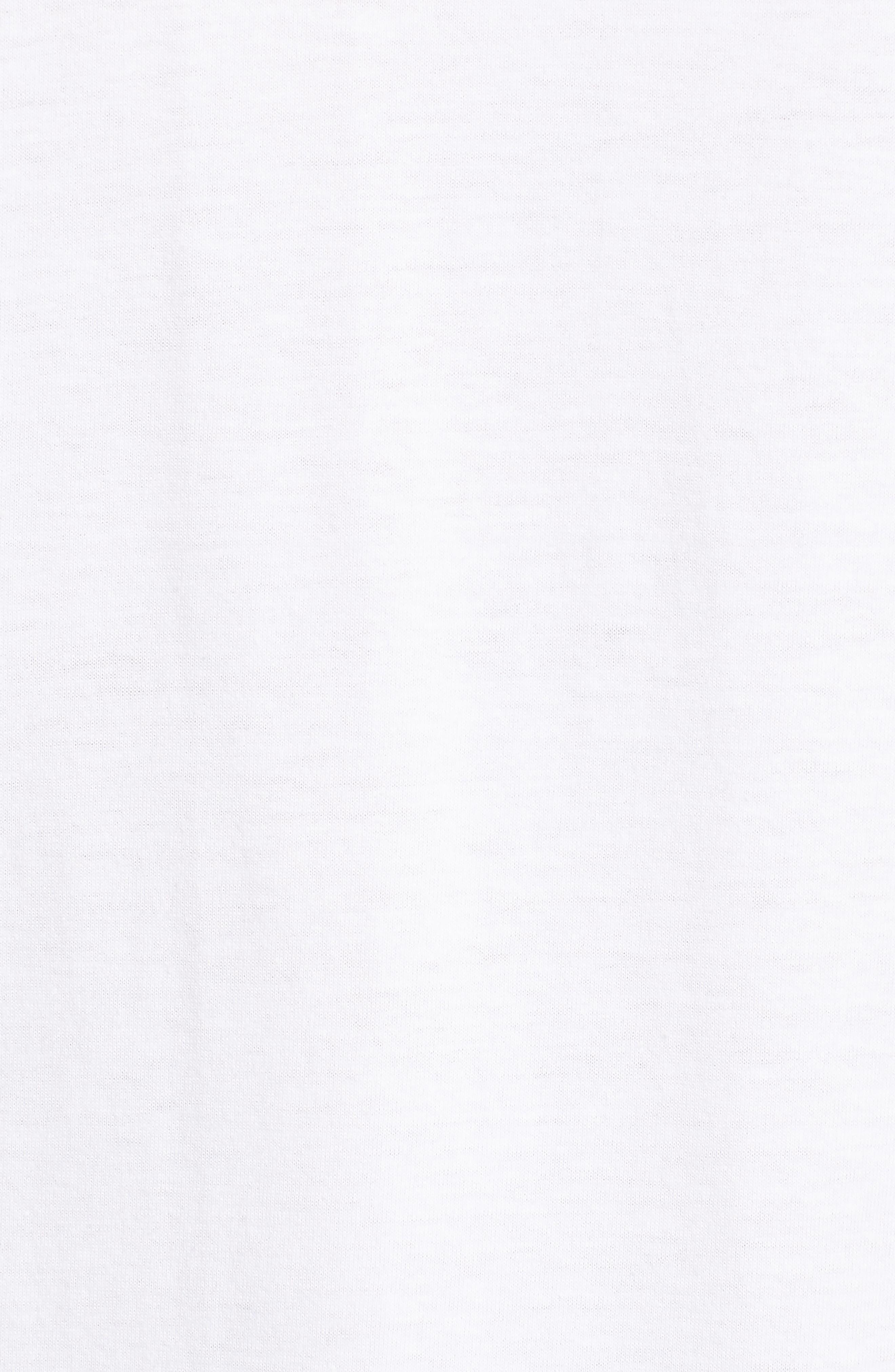 Slim Fit Long Sleeve Raglan T-Shirt,                             Alternate thumbnail 5, color,                             White/ Marine