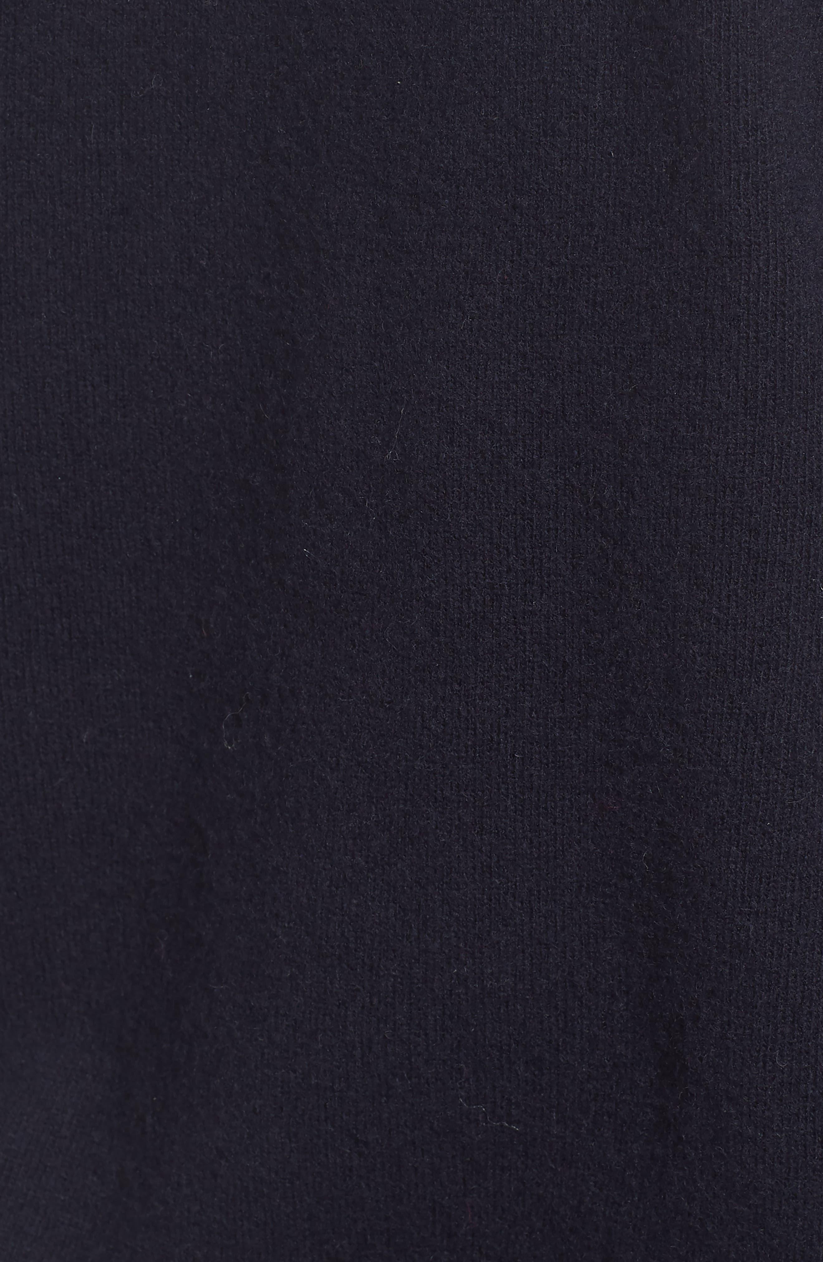 Crewneck Wool Sweater,                             Alternate thumbnail 5, color,                             Marine Blue/ Tartan