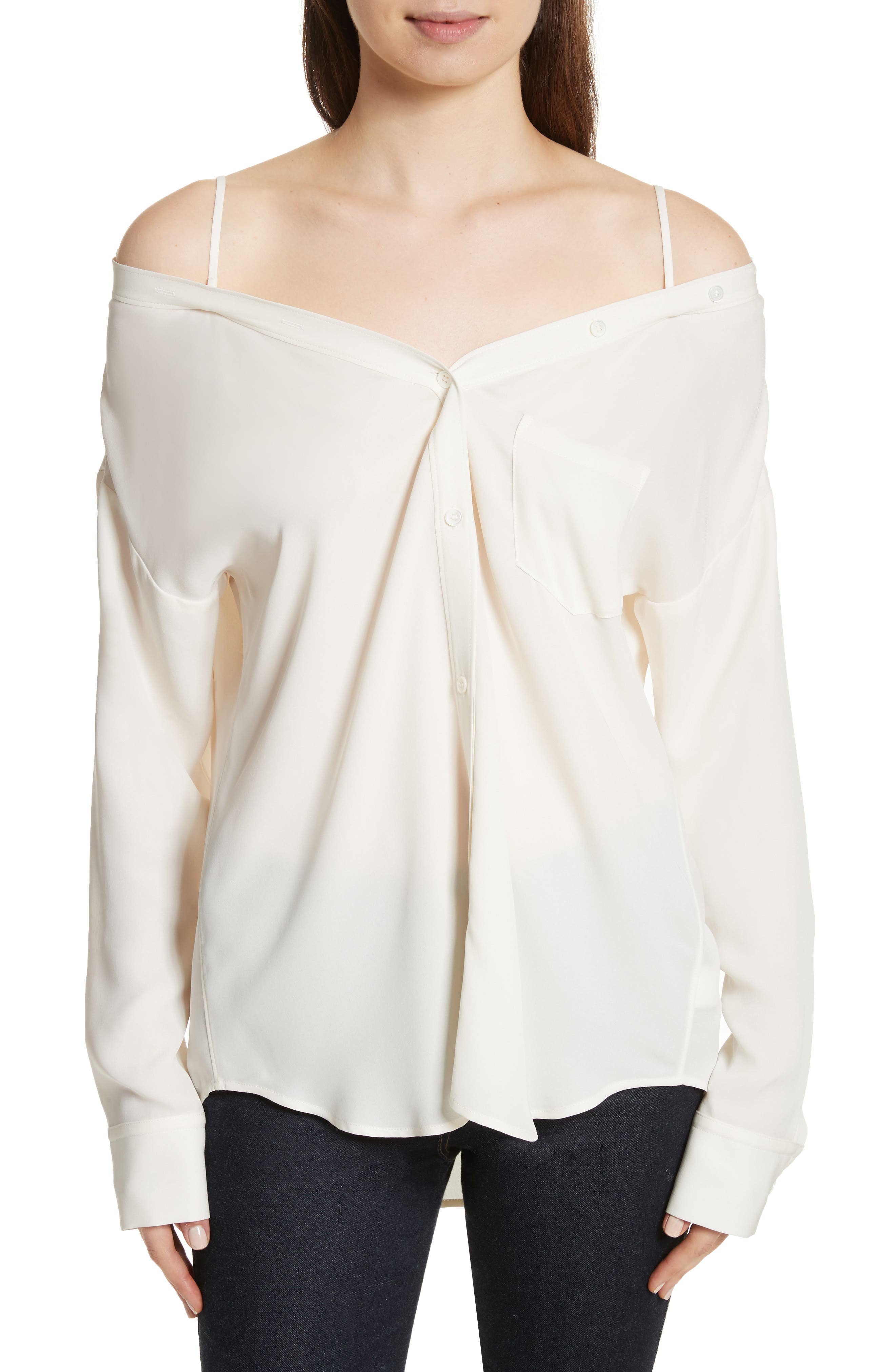 Alternate Image 1 Selected - Theory Tamalee Silk Shirt
