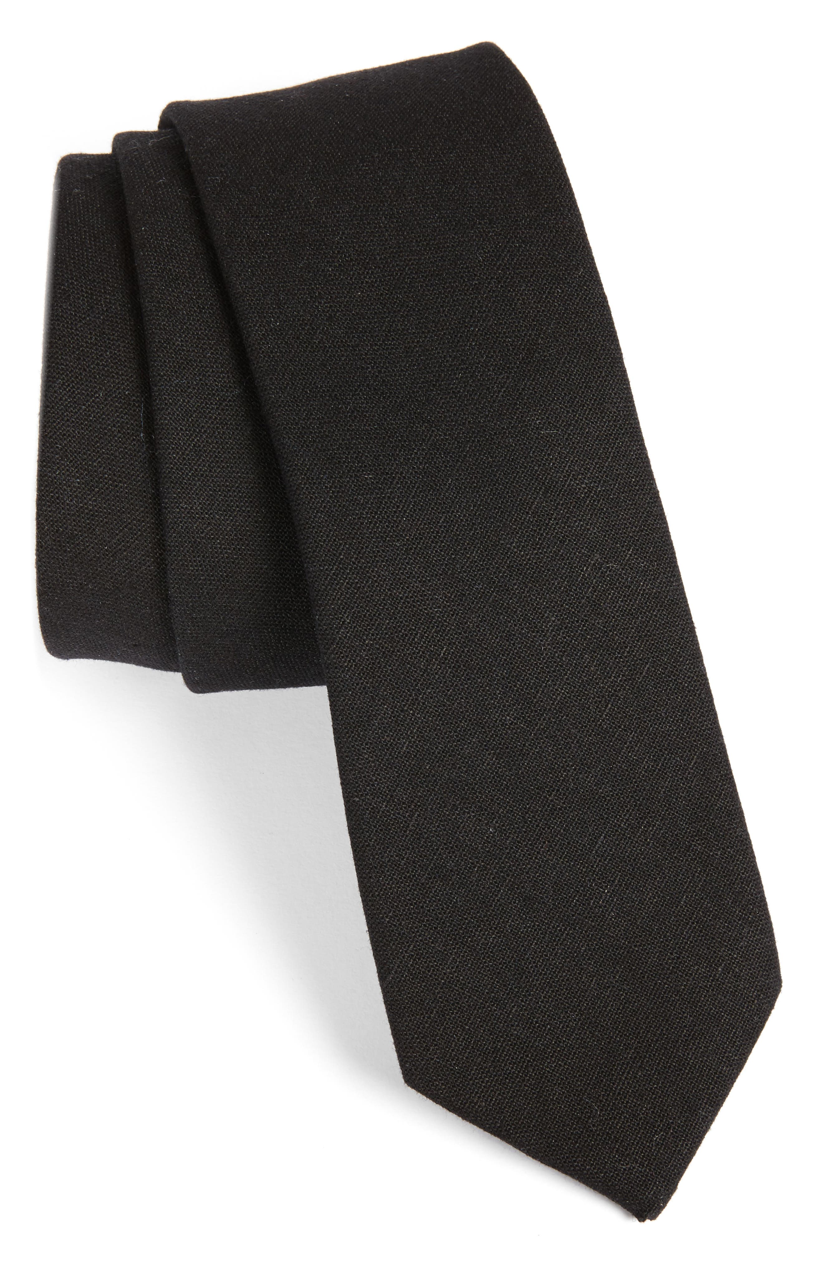 Alternate Image 1 Selected - 1901 Solid Linen & Cotton Tie
