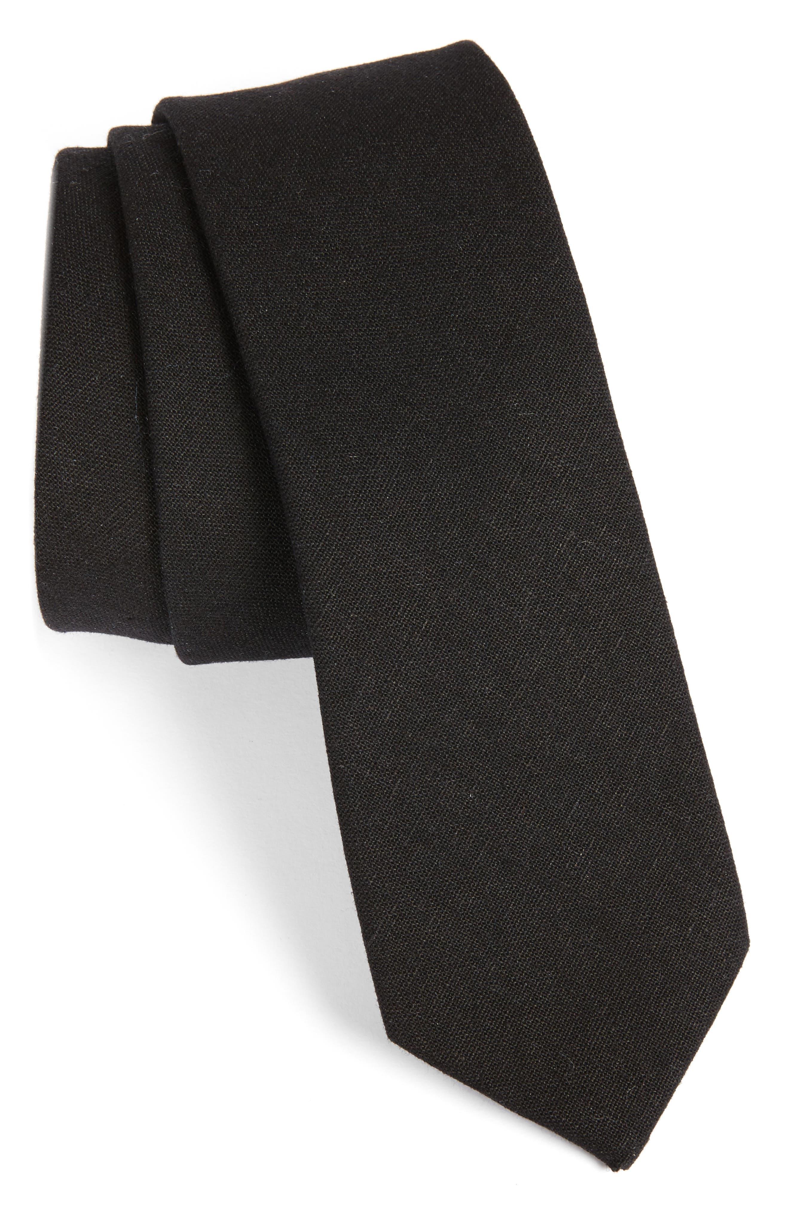 1901 Solid Linen & Cotton Tie