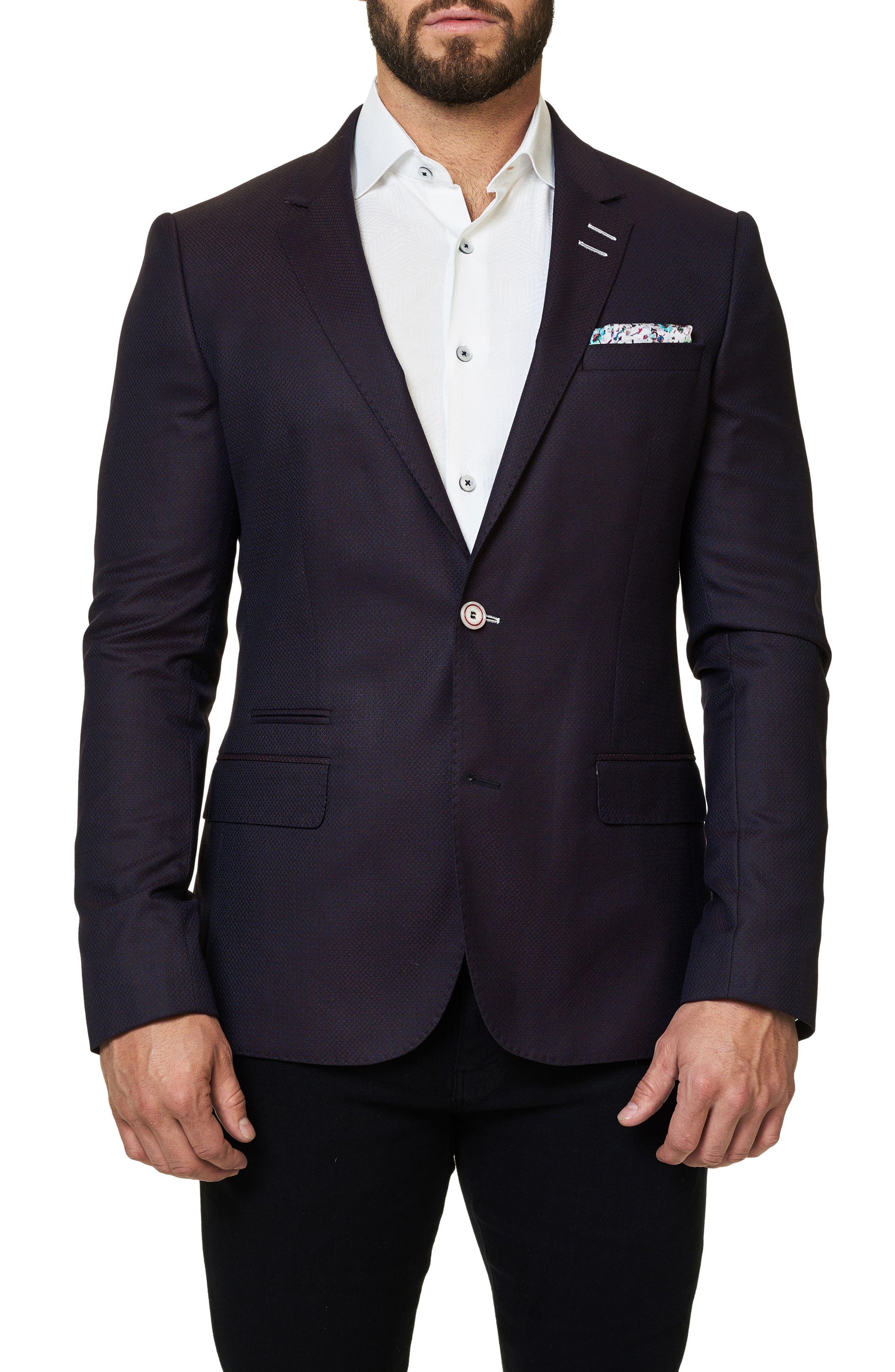 Main Image - Maceoo Socrate Textured Sport Coat