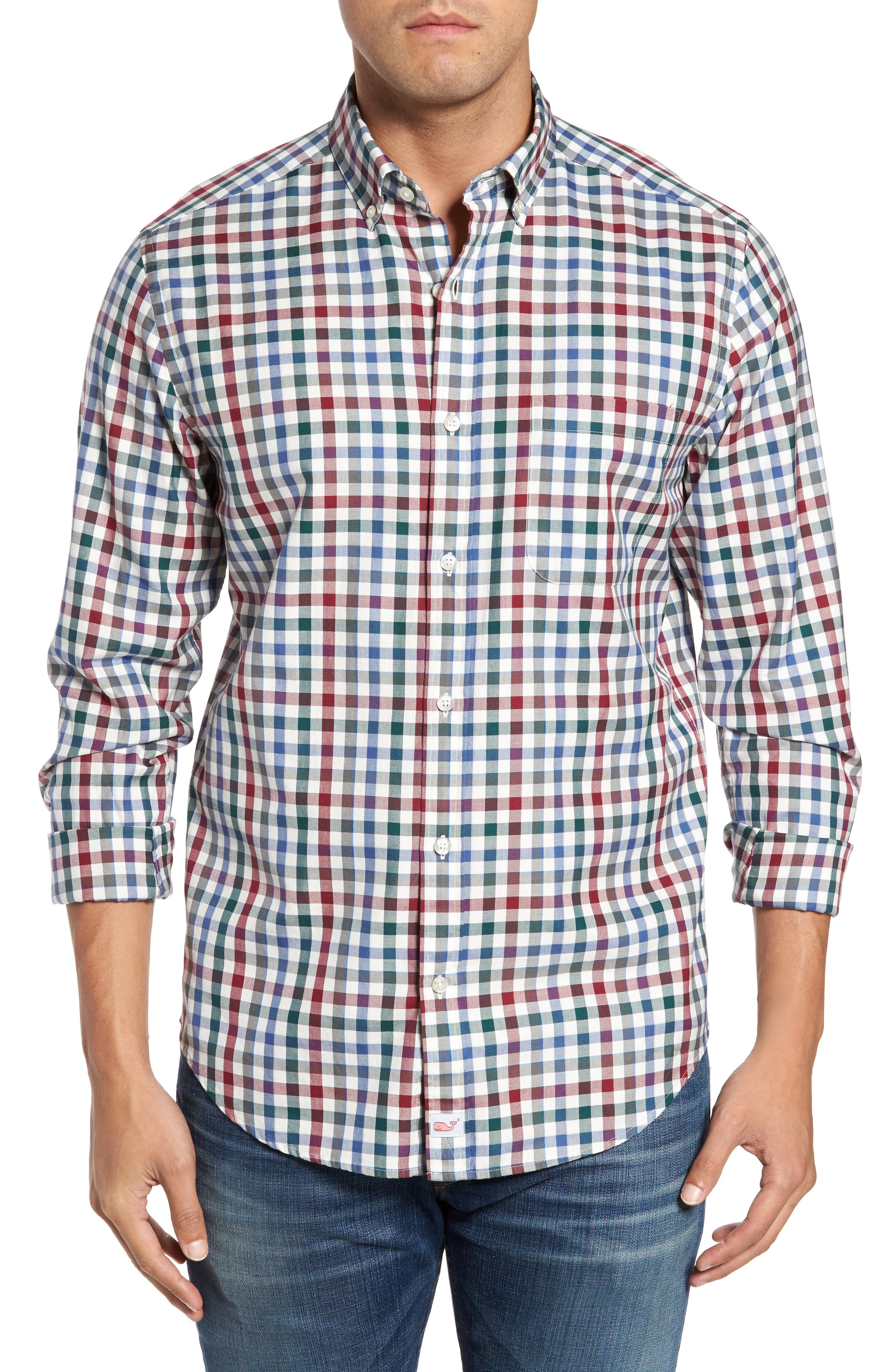 Classic Fit Murray Tin House Check Sport Shirt,                         Main,                         color, Moonshine