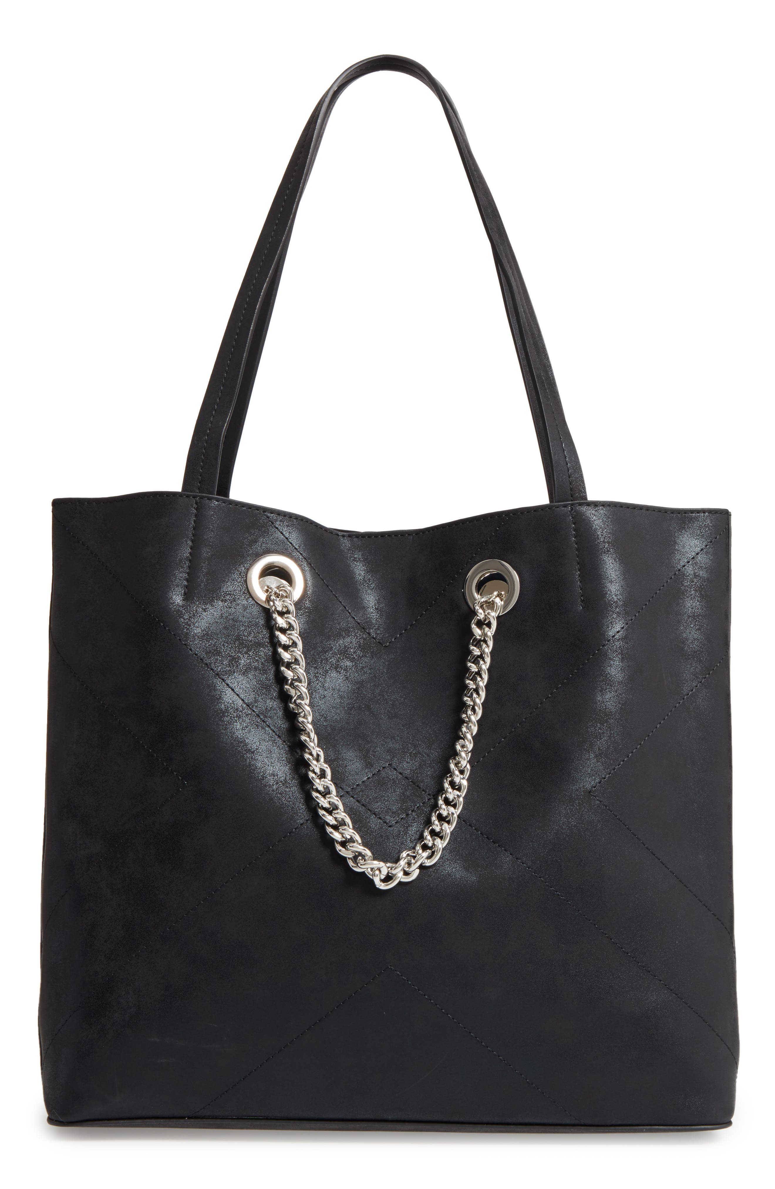 Alternate Image 1 Selected - Chelsea28 Dakota Chain Faux Leather Tote