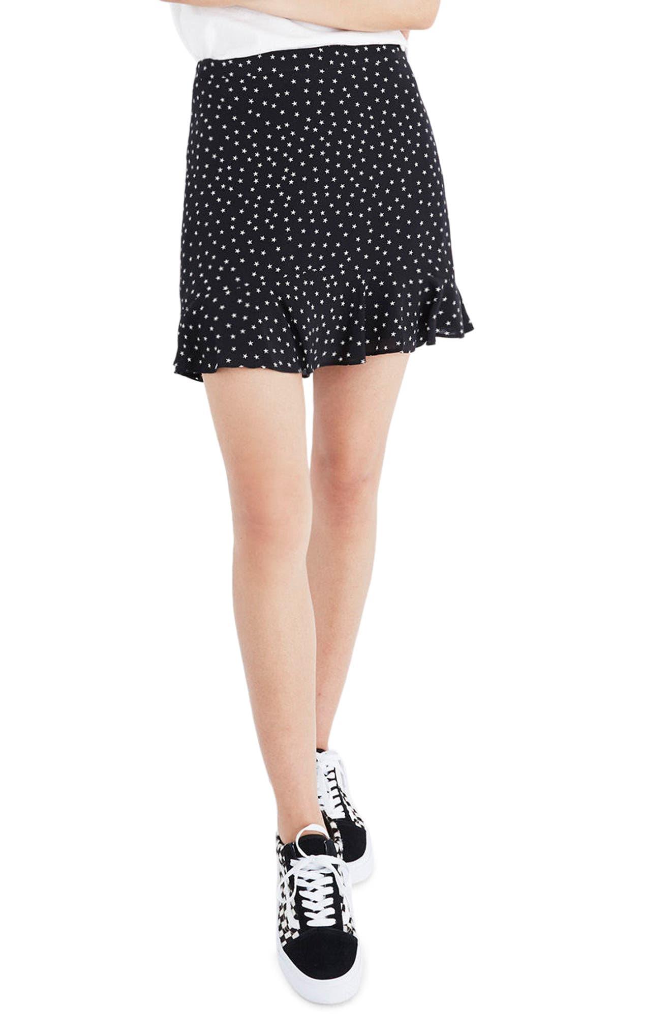 Madewell Silk Ruffle Skirt