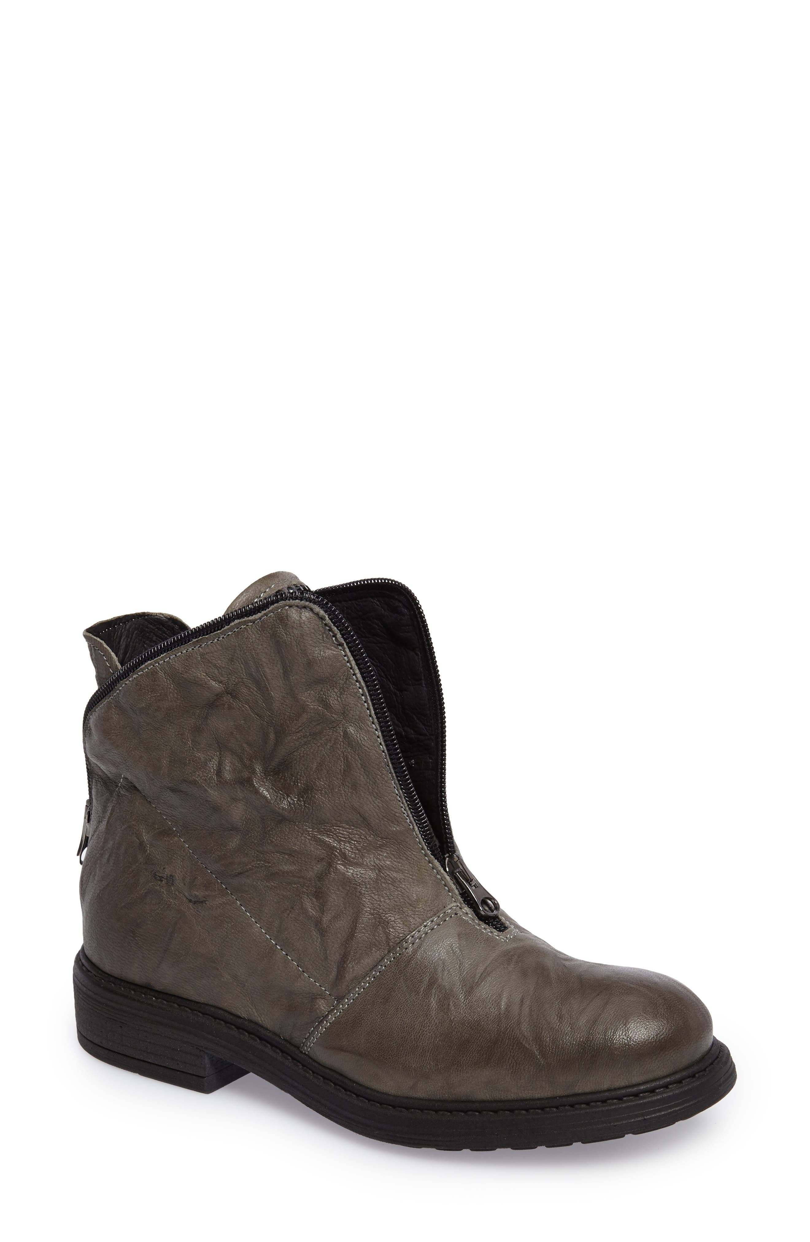 Sheridan Bling Bootie,                         Main,                         color, Charcoal Leather