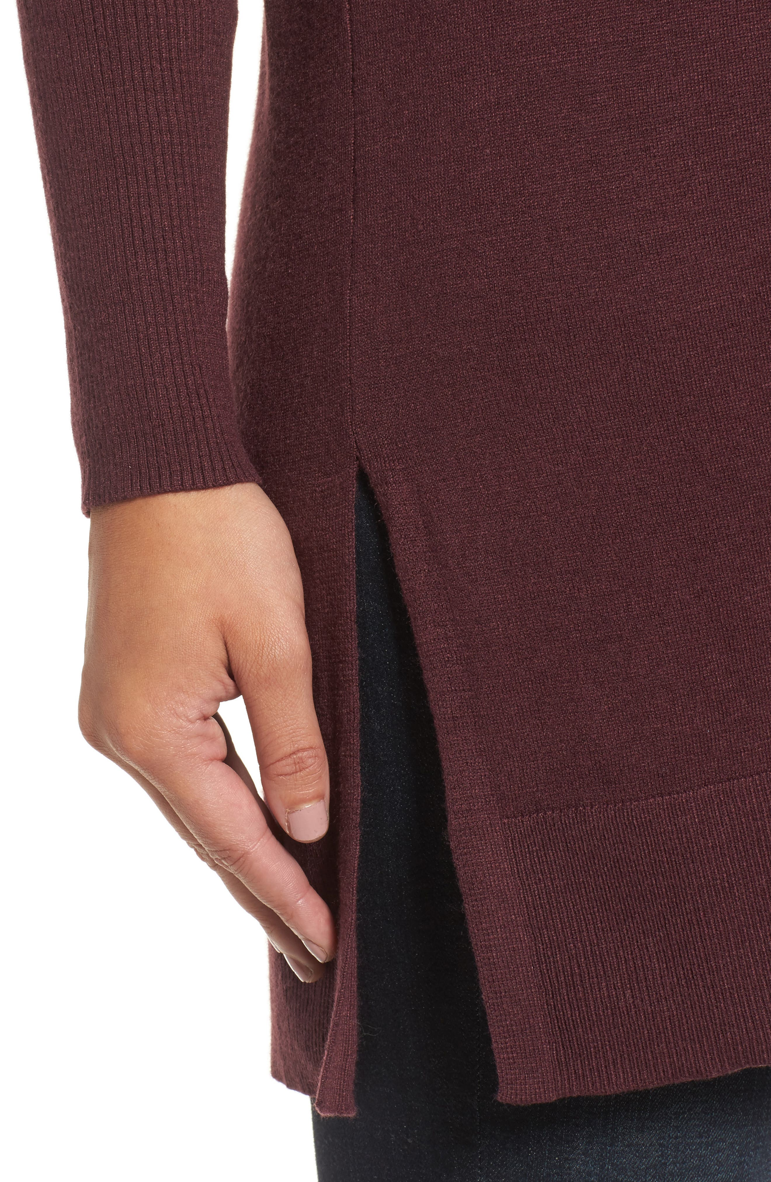 Alternate Image 4  - Caslon® Side Slit Cowl Neck Tunic (Regular & Petite)