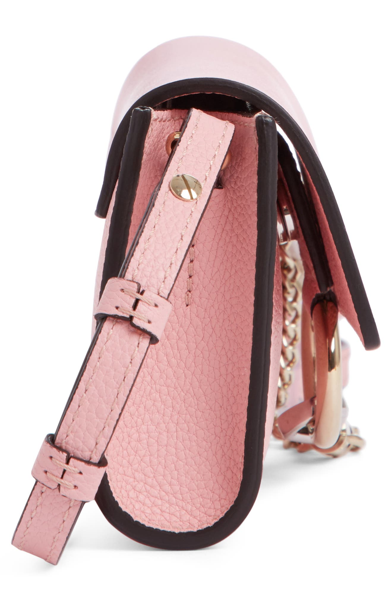 Alternate Image 3  - Chloé Mini Faye Suede & Leather Wallet on a Chain