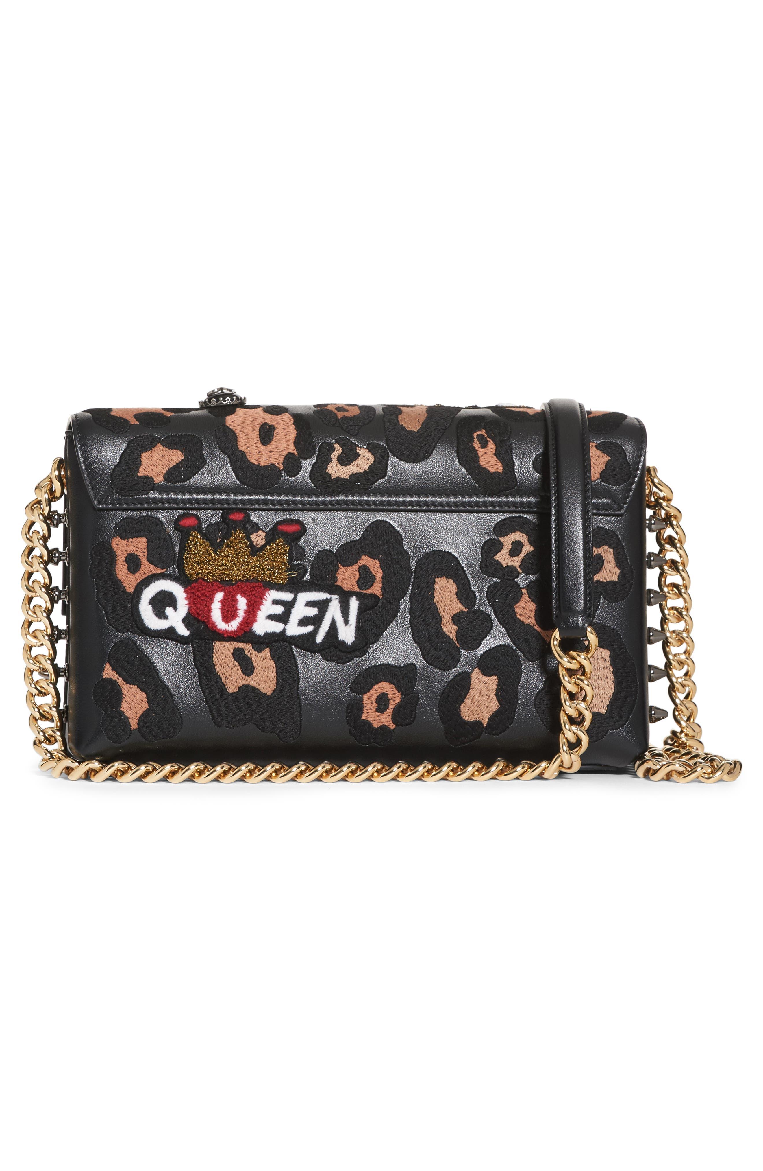 Millennials Embellished Leather Shoulder Bag,                             Alternate thumbnail 2, color,                             Black Multi
