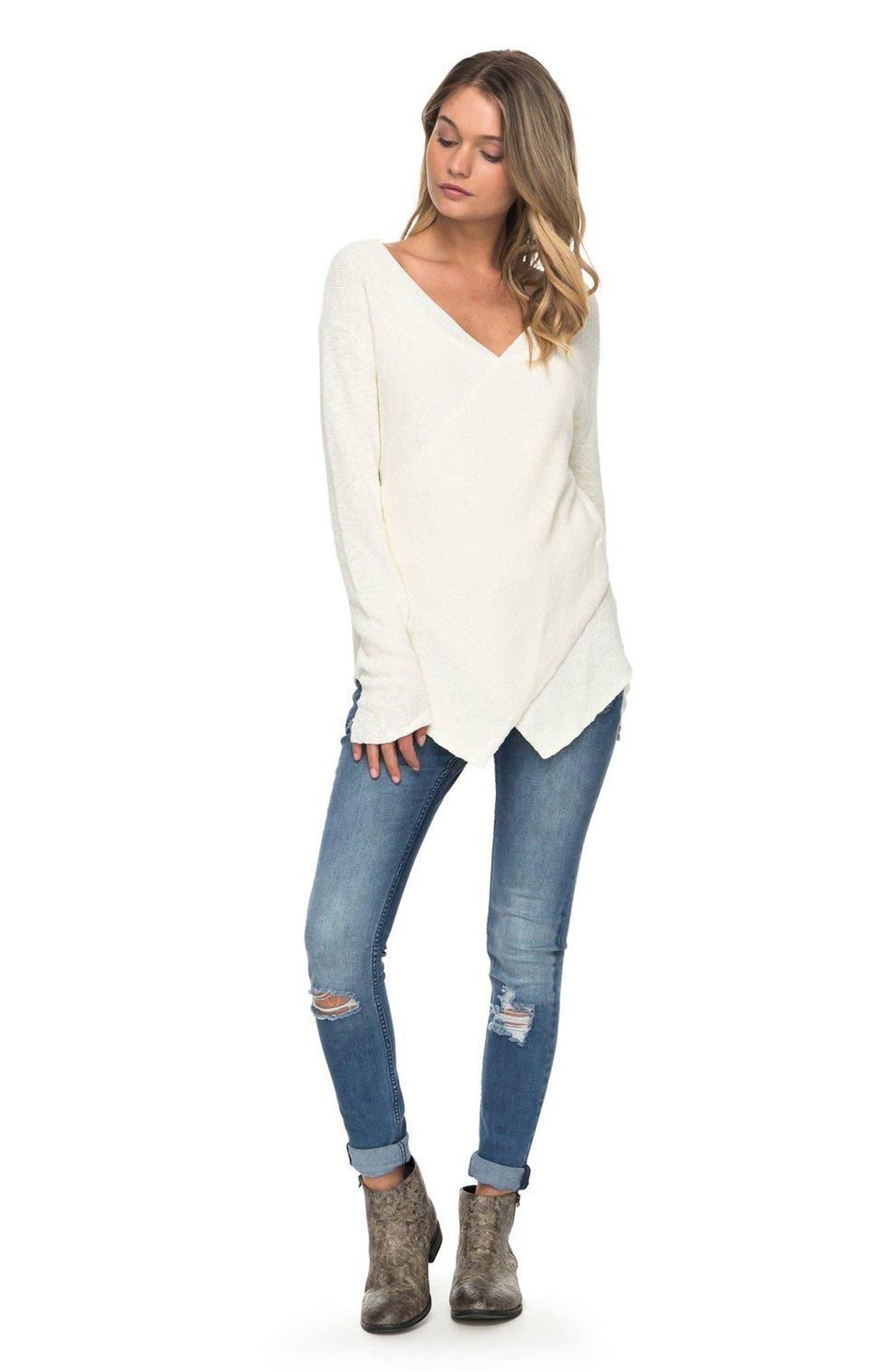 Alternate Image 2  - Roxy Love at First Light Sweater