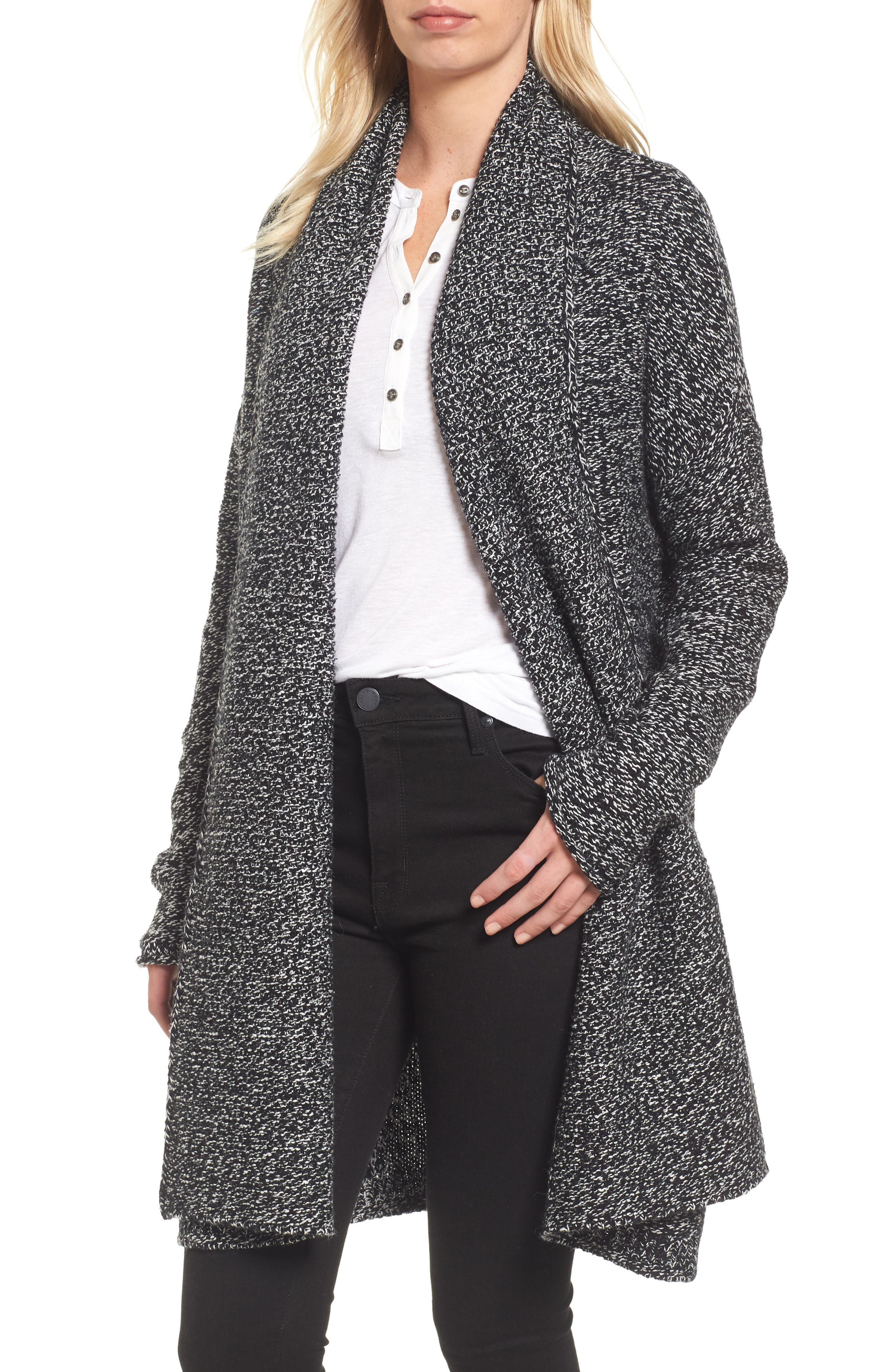 Alternate Image 1 Selected - Caslon® Shawl Collar Cardigan (Regular & Petite)