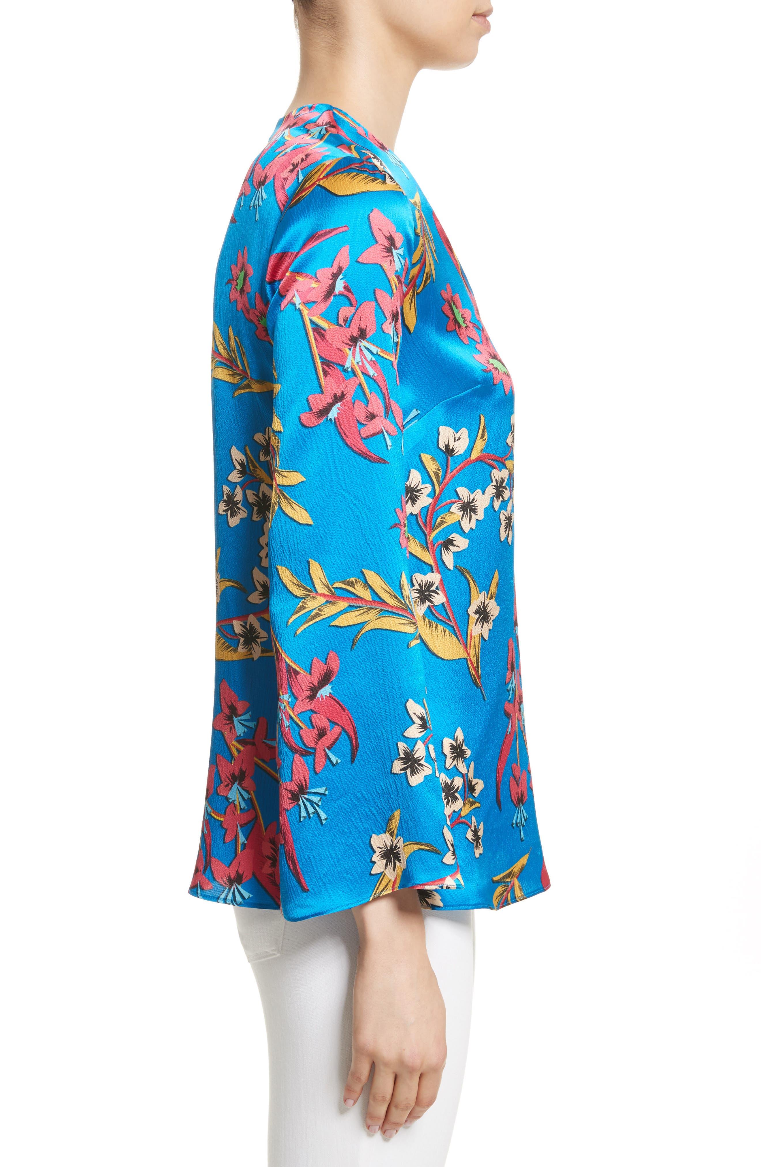 Alternate Image 3  - Etro Jungle Floral Print Silk Blouse