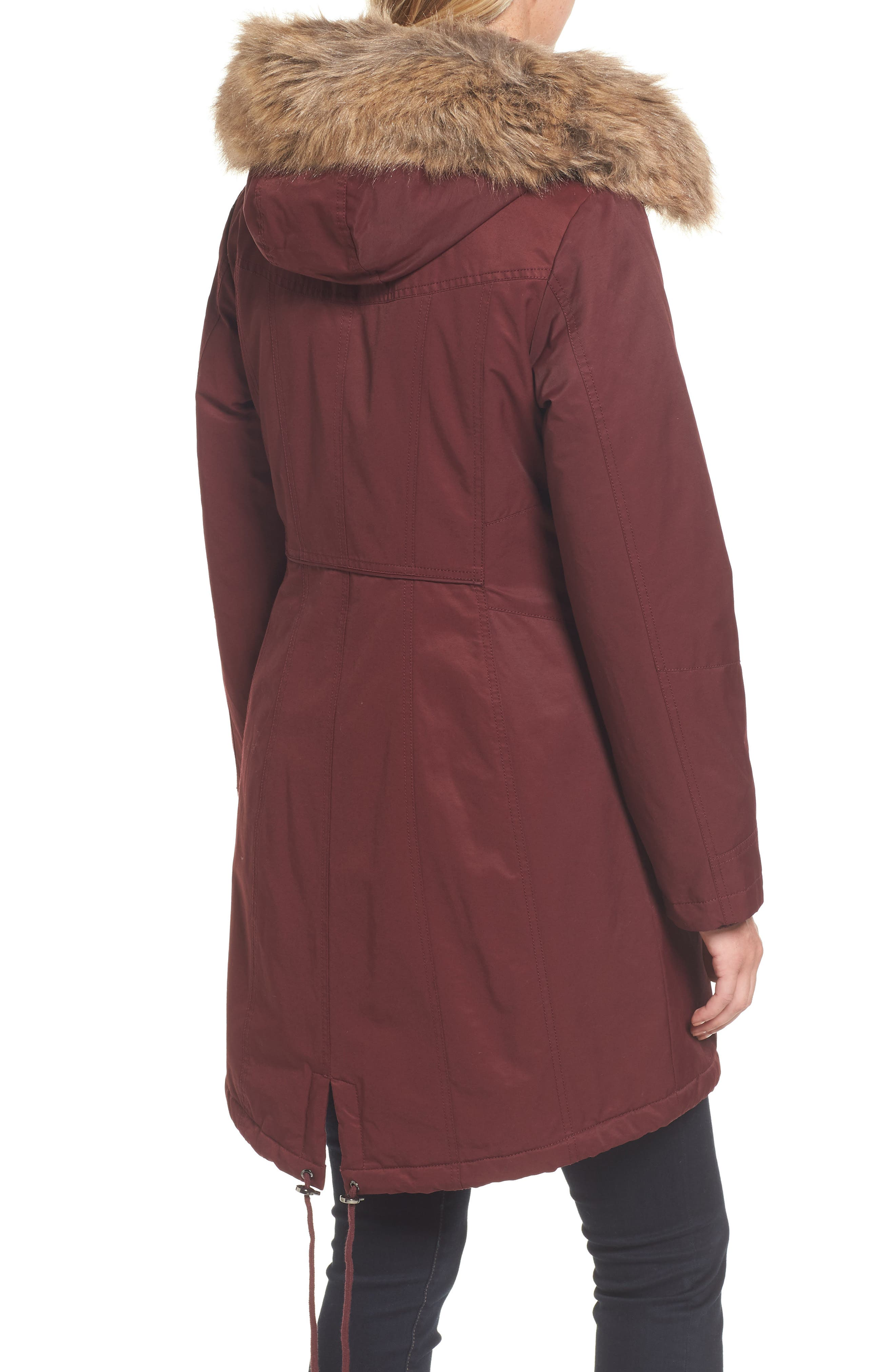 Alternate Image 2  - 1 Madison Insulated Parka with Faux Fur Trim