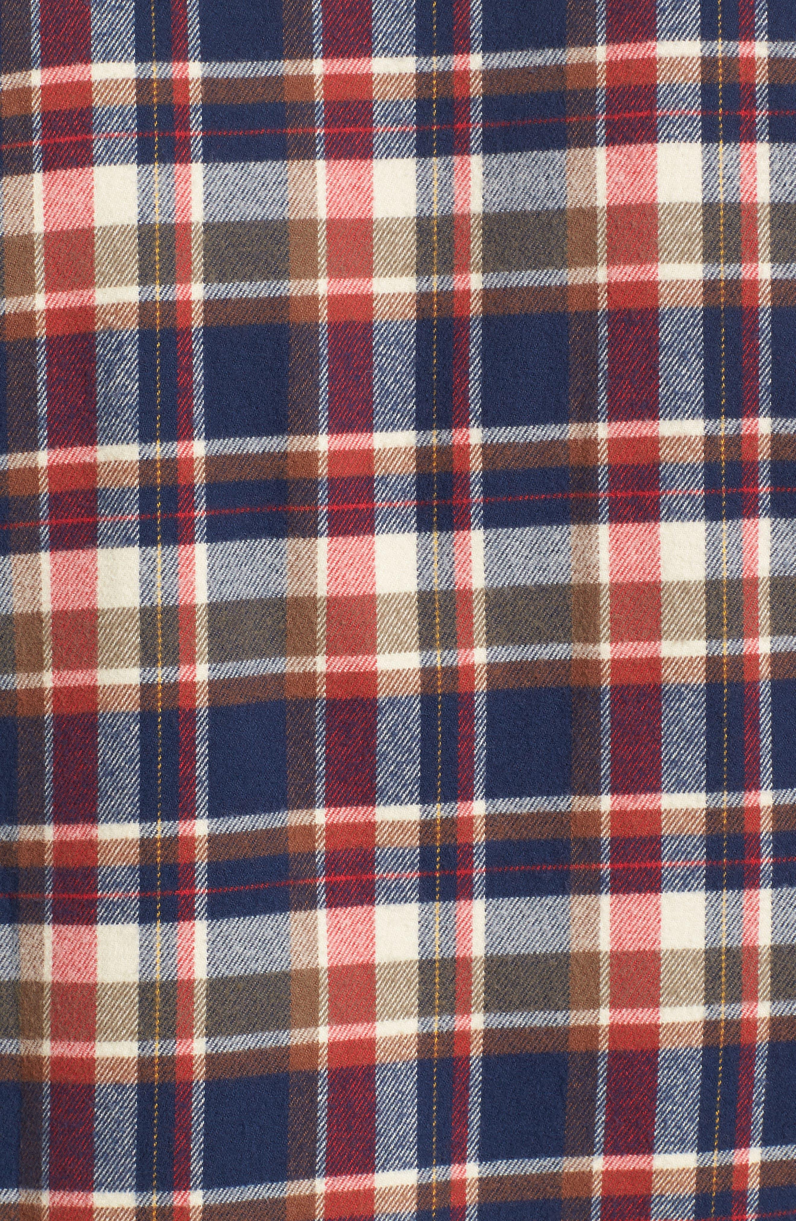 Blake Plaid Sport Shirt,                             Alternate thumbnail 5, color,                             Red