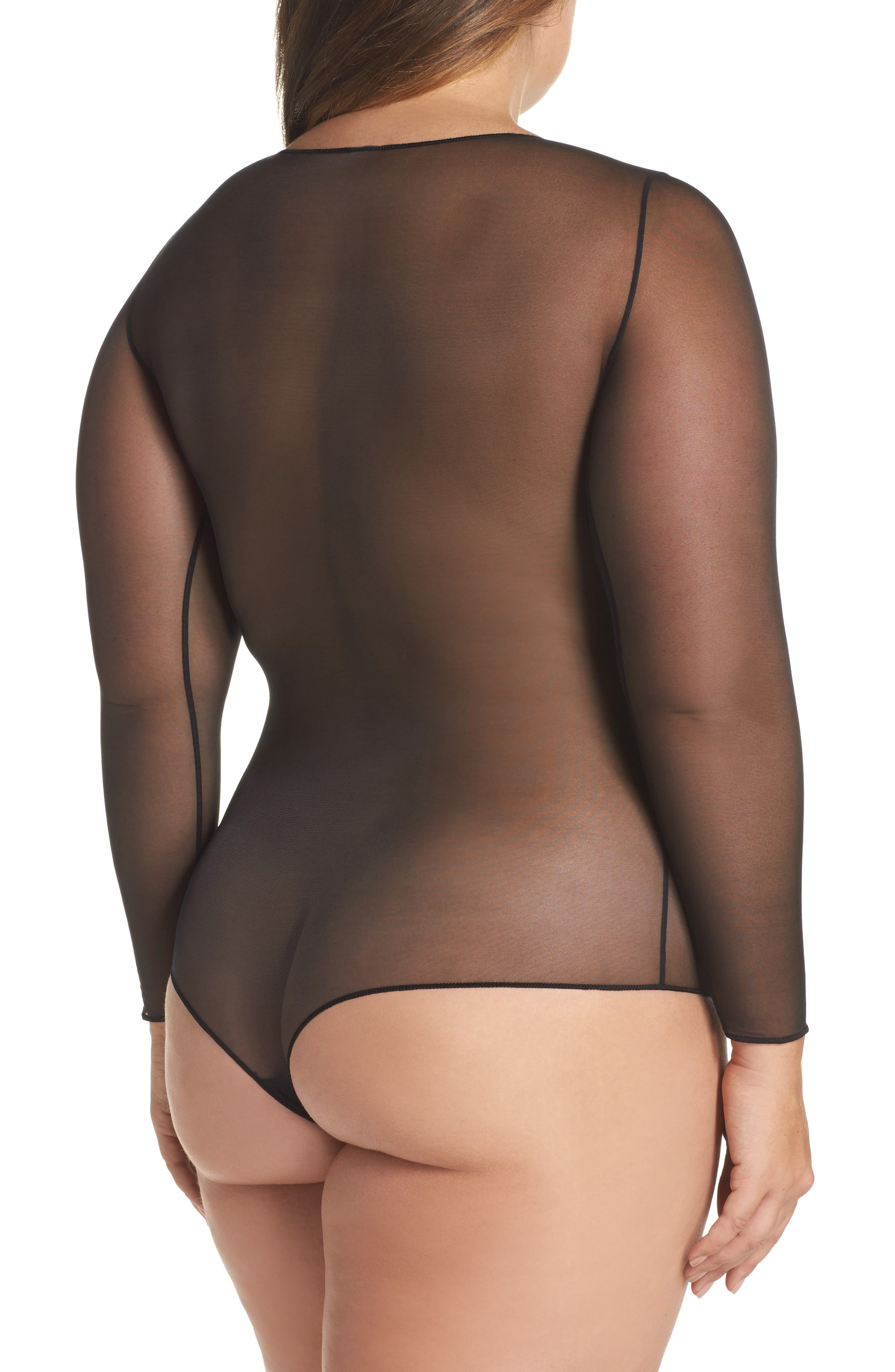 Thong Bodysuit,                             Alternate thumbnail 2, color,                             Very Black