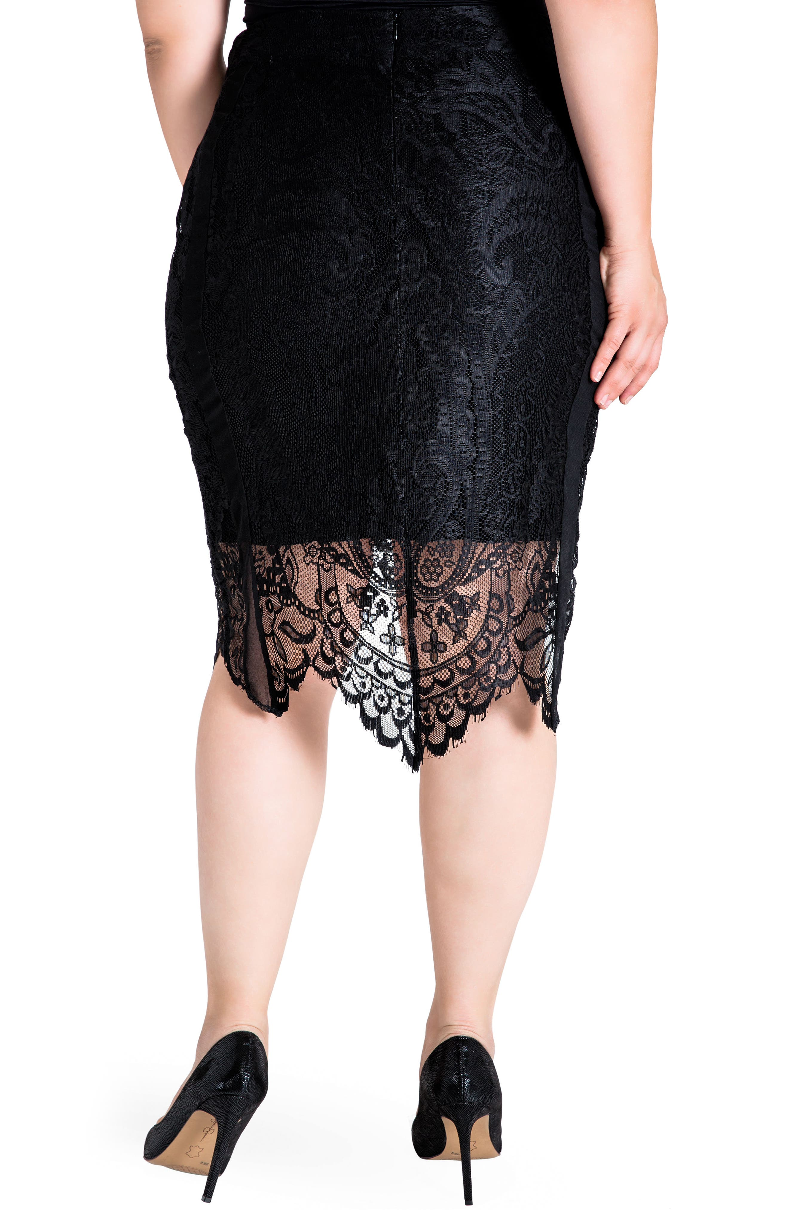 Alternate Image 3  - Standards & Practices Emily Lace Pencil Skirt (Plus Size)