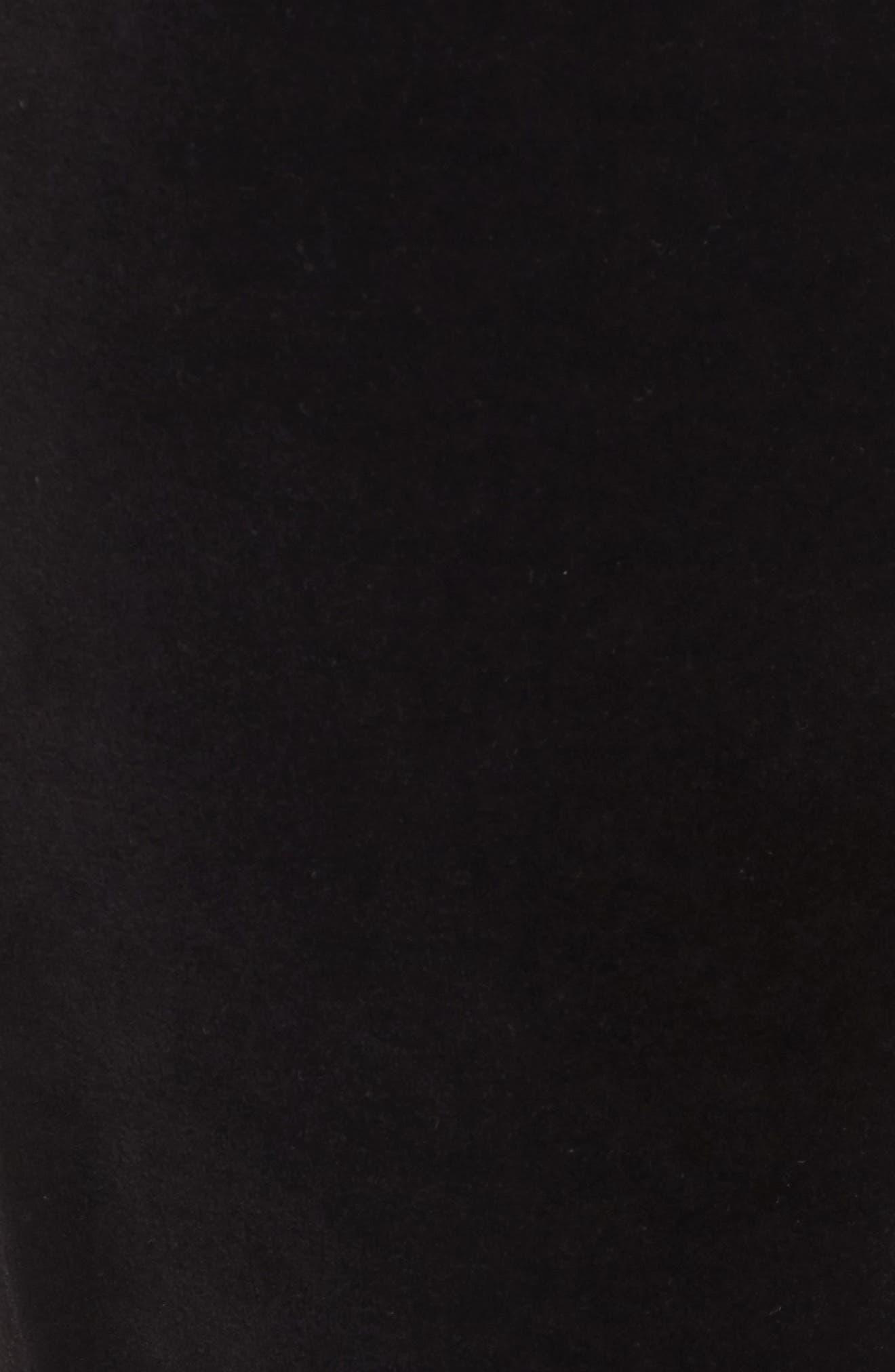 Zuma Velour Track Pants,                             Alternate thumbnail 5, color,                             Pitch Black