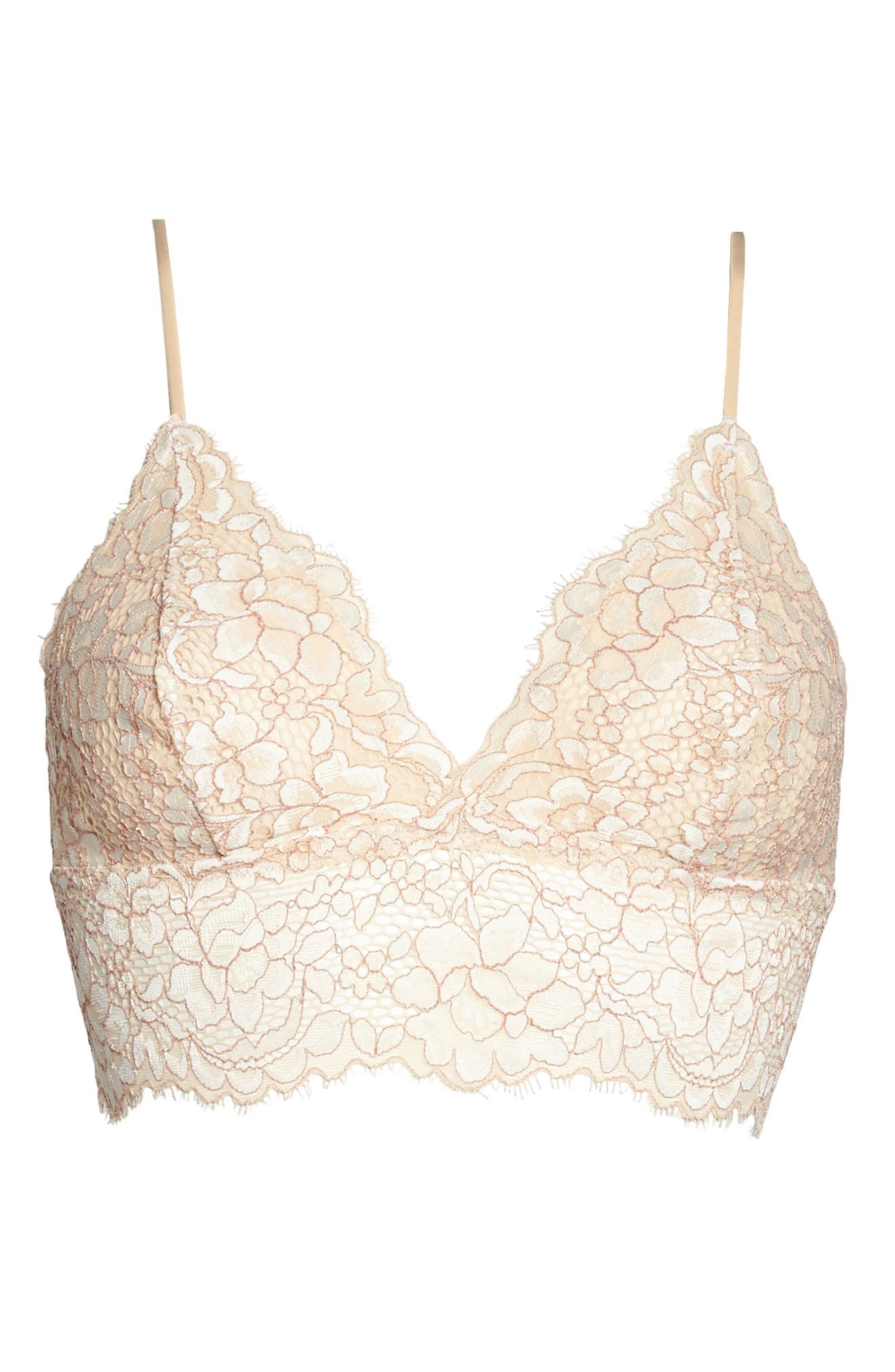 Pret Longline Triangle Bralette,                             Alternate thumbnail 4, color,                             Moon Iv/ Mandorla