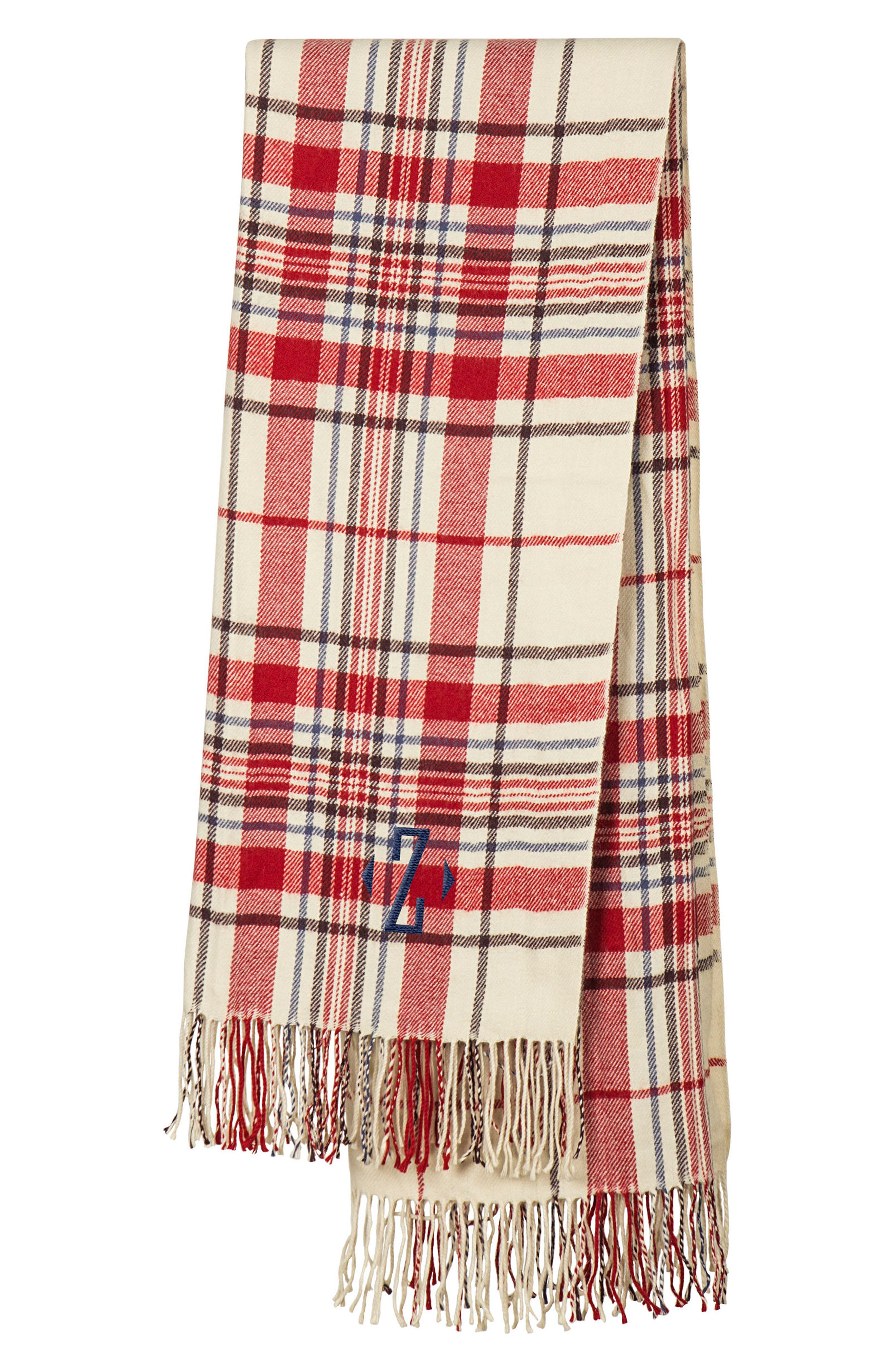 Cathy's Concepts Monogram Plaid Throw