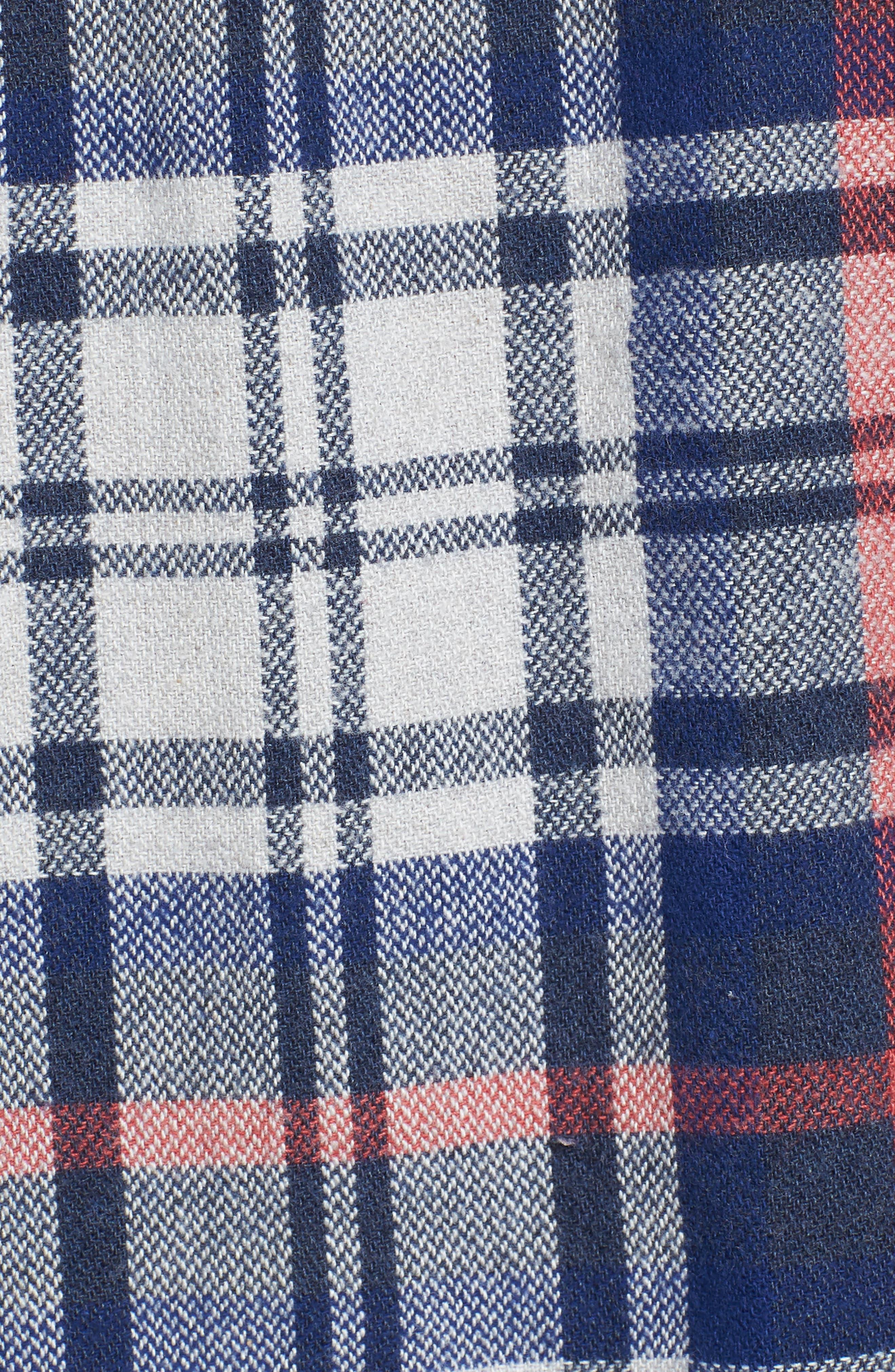 Alternate Image 5  - Grayers Bisney Modern Fit Texture Flannel Sport Shirt