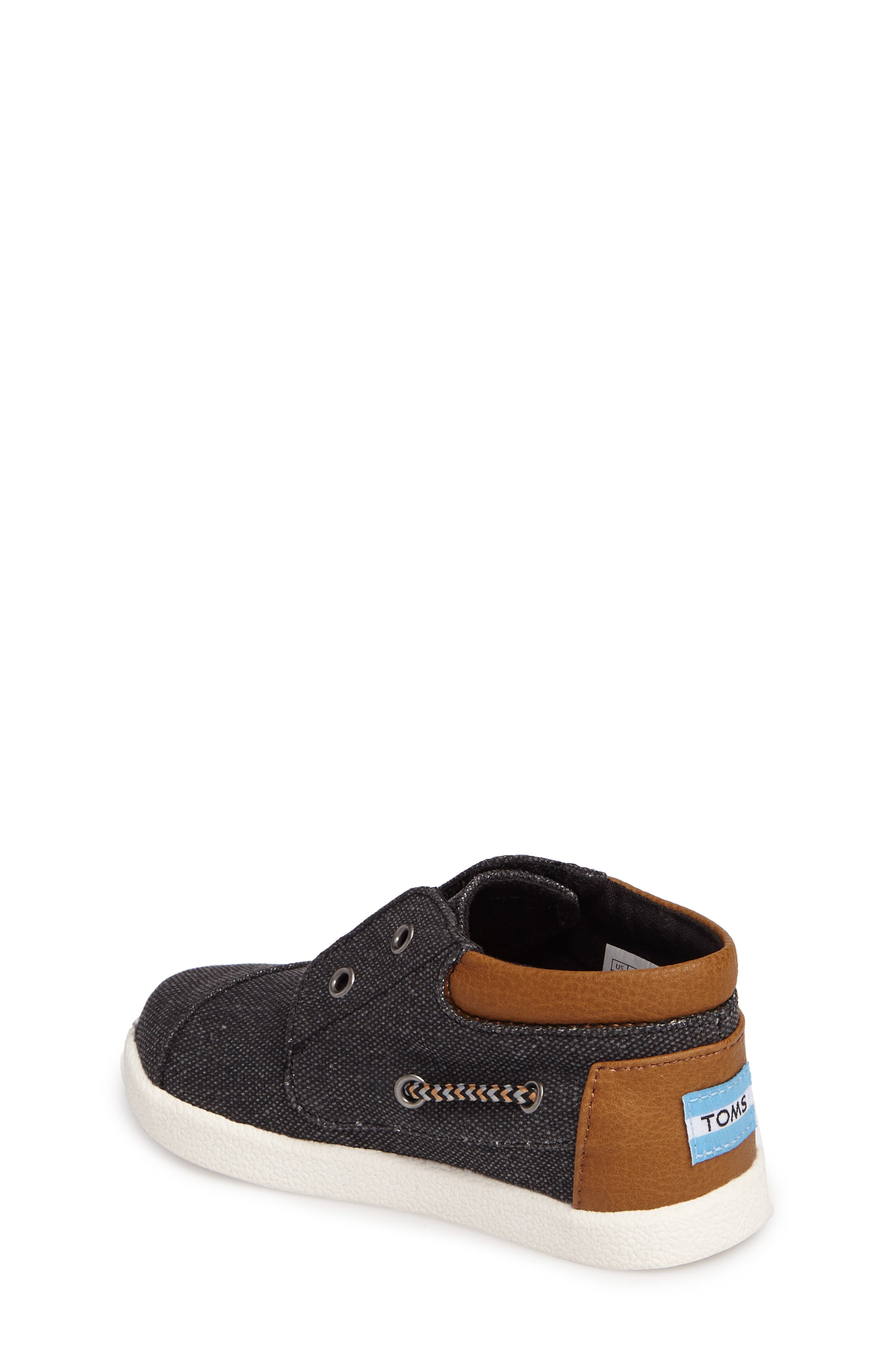 'Bimini - Tiny' Slip-On,                             Alternate thumbnail 2, color,                             Black Washed Canvas