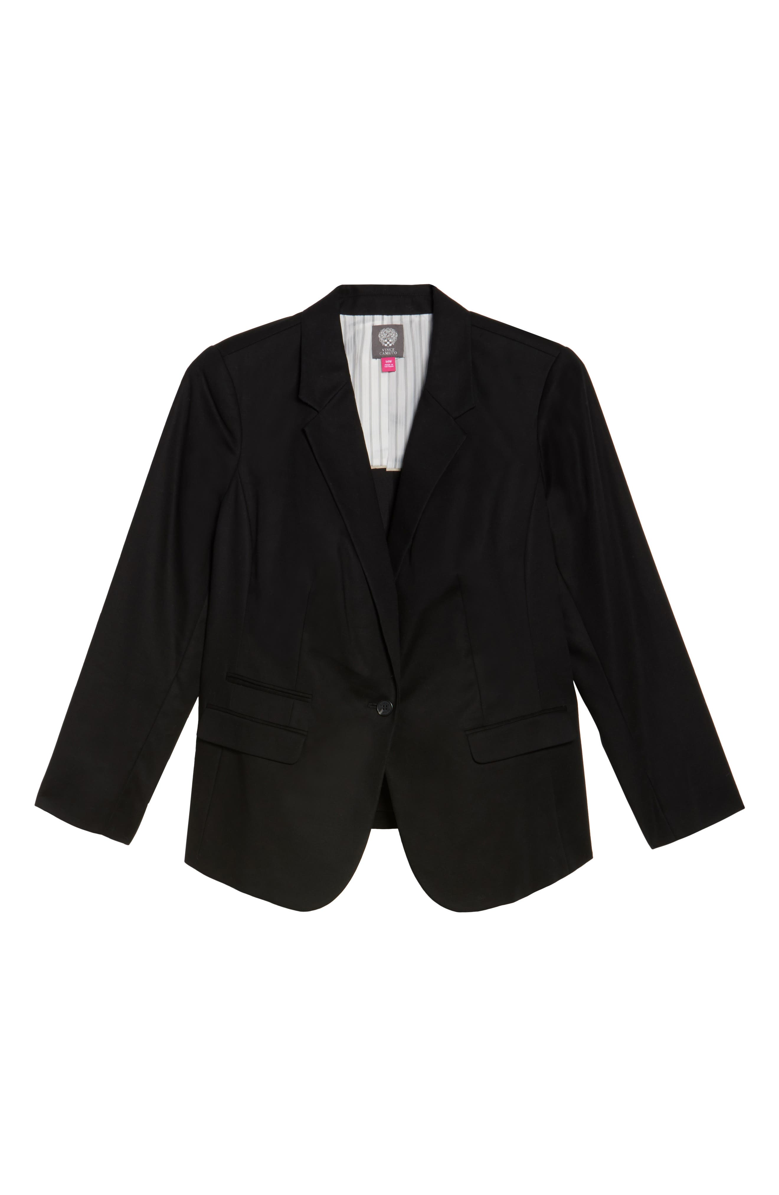 One-Button Blazer,                             Alternate thumbnail 6, color,                             Rich Black