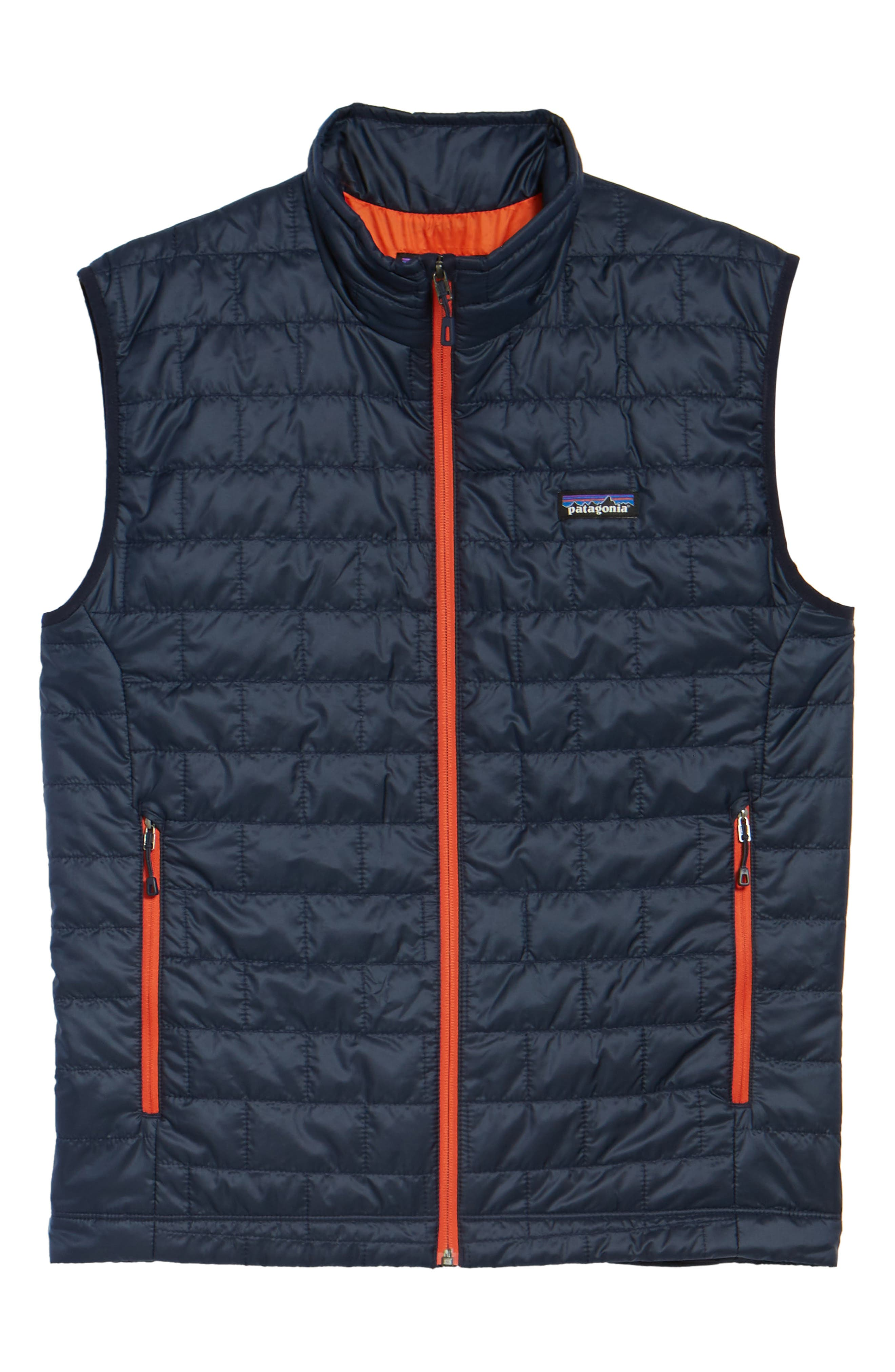 Nano Puff<sup>®</sup> Vest,                             Alternate thumbnail 6, color,                             Navy Blue W/ Paintbrush Red