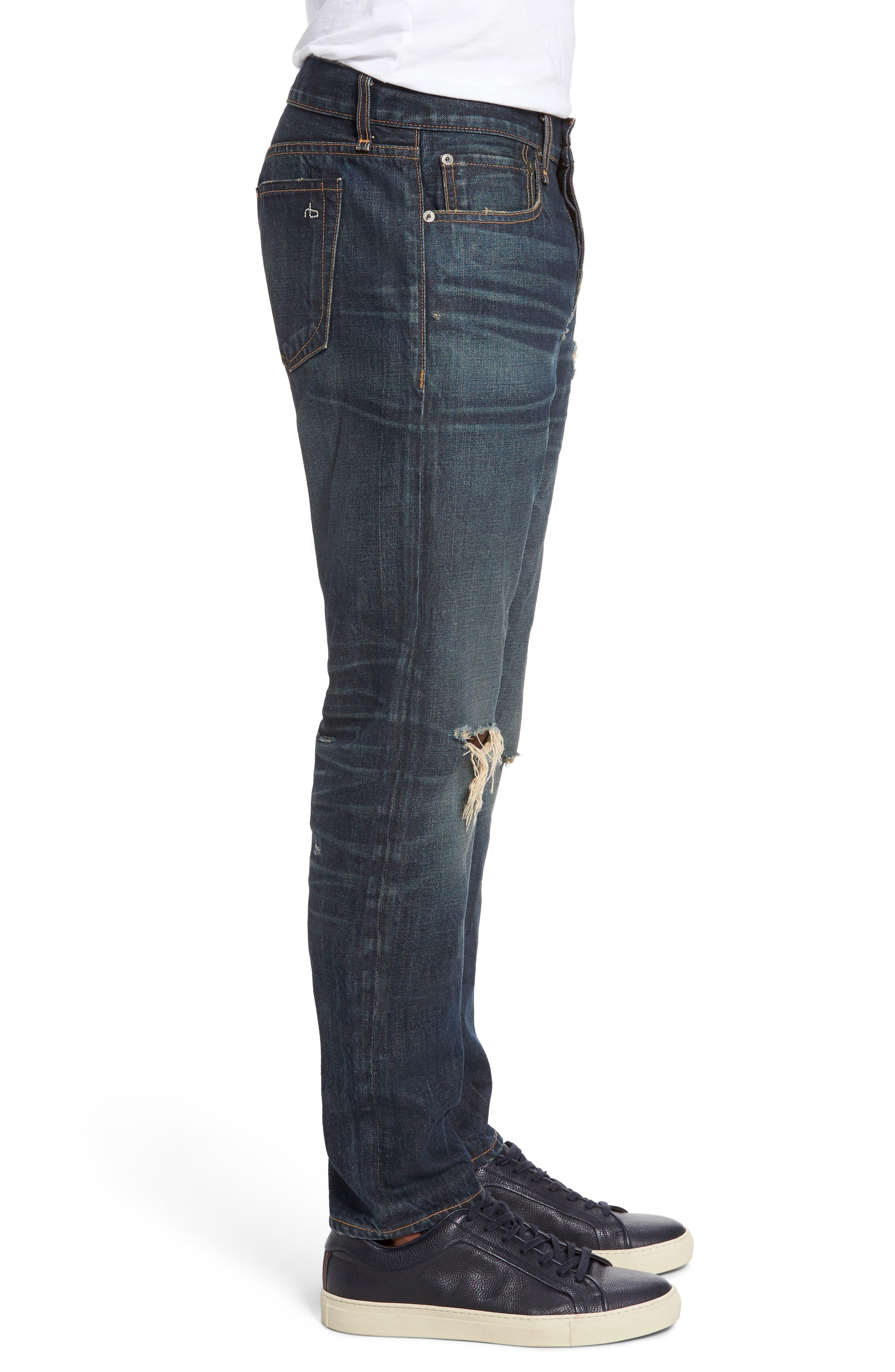 Alternate Image 3  - rag & bone Fit 2 Slim Fit Jeans (Zeitgeist)