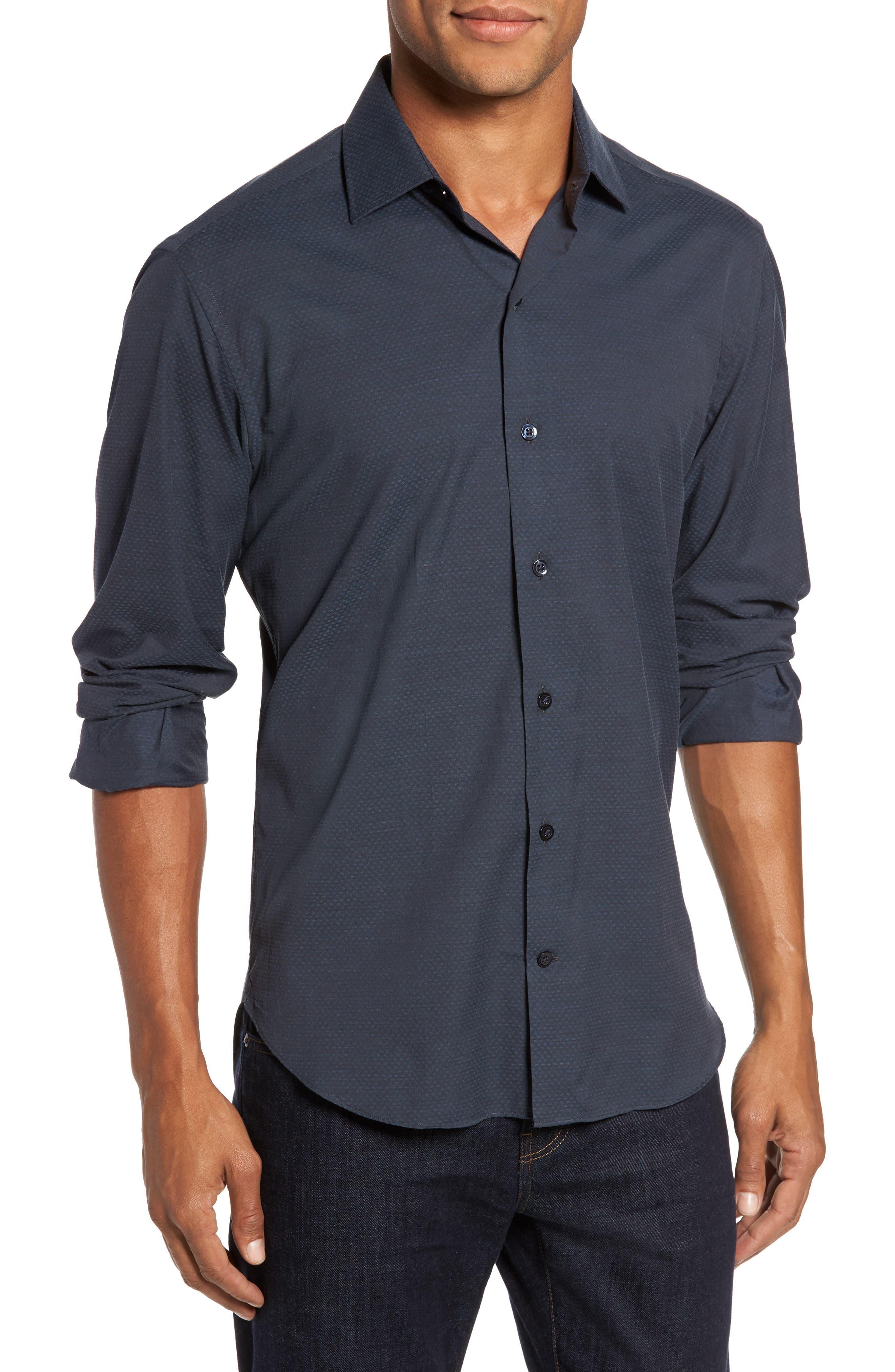 Alternate Image 1 Selected - Culturata Trim Fit Print Sport Shirt