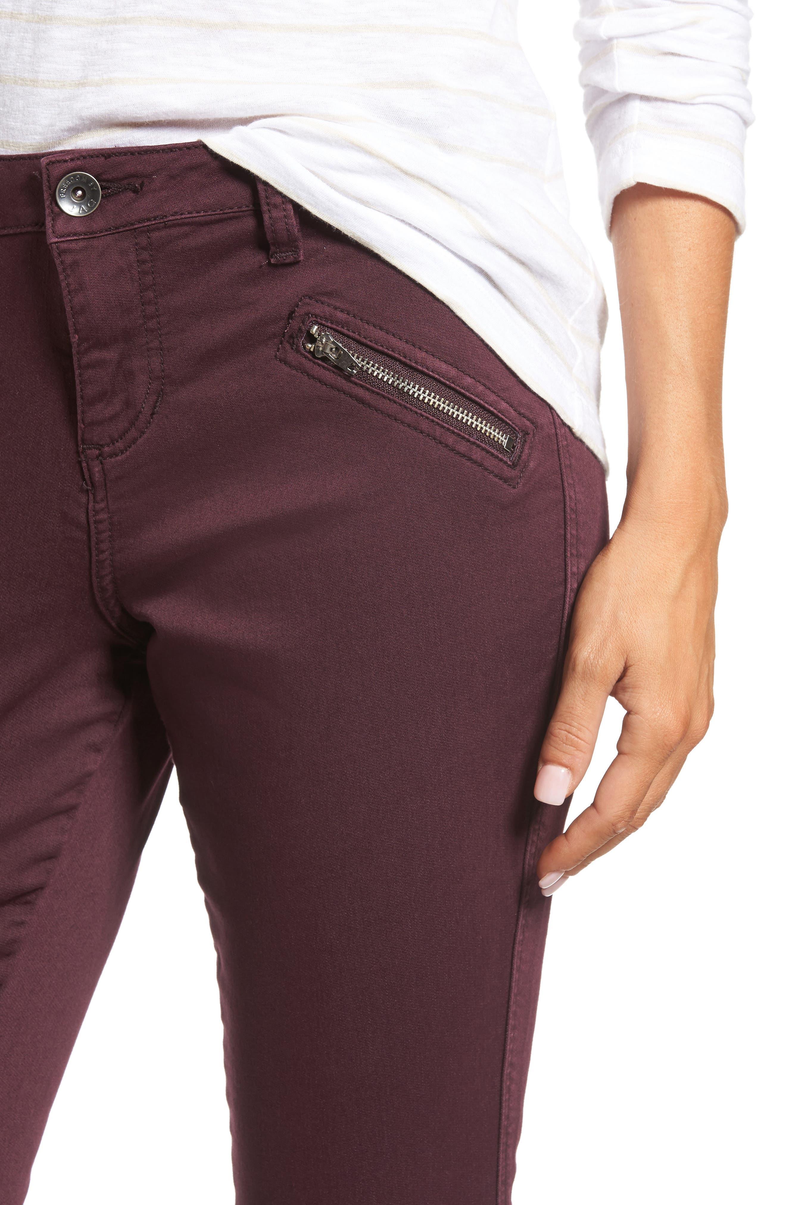 Alternate Image 4  - Jag Jeans Ryan Knit Skinny Jeans (Plum Noir)