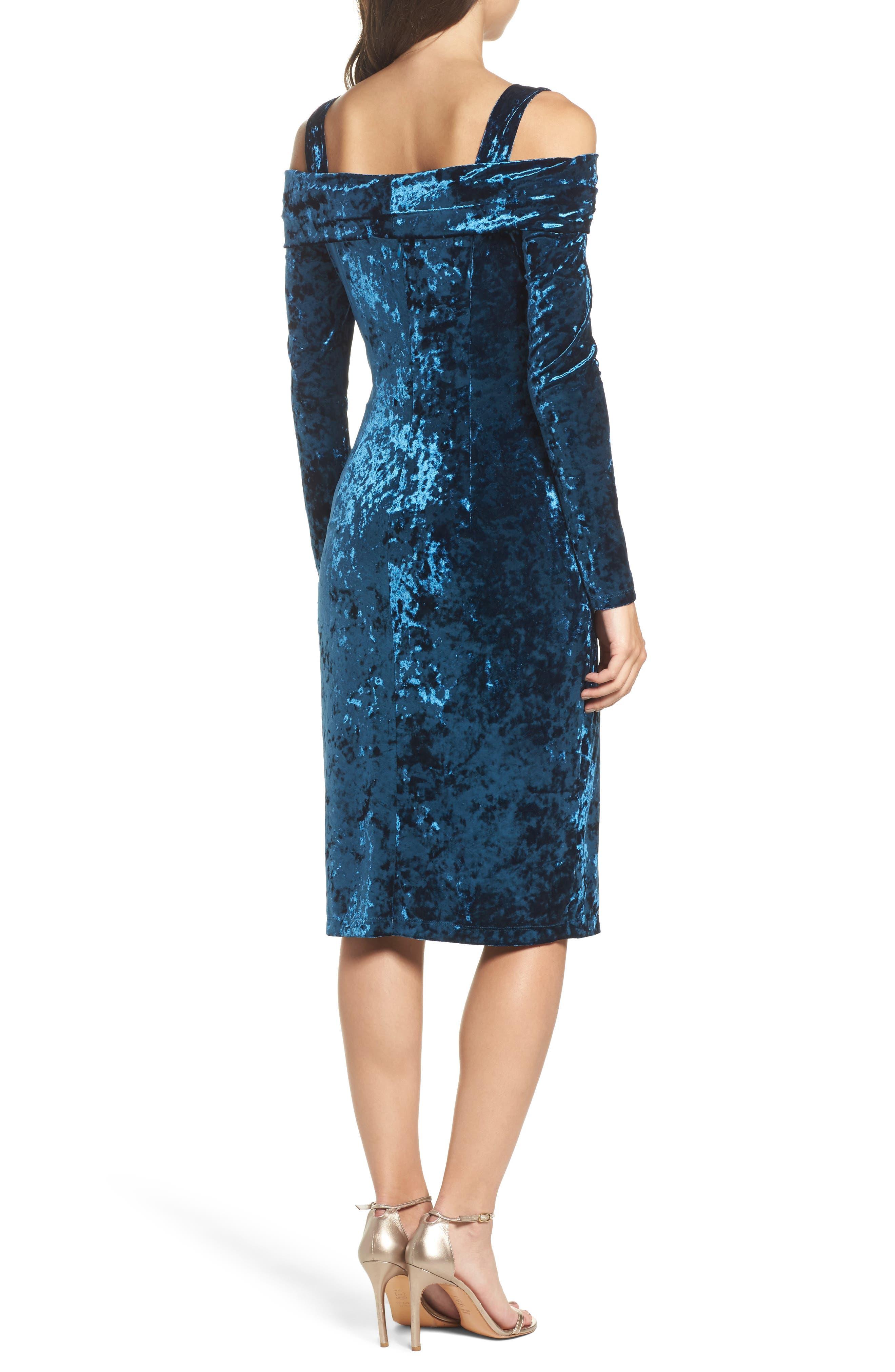 Alternate Image 2  - Maggy London Crushed Velvet Off the Shoulder Dress