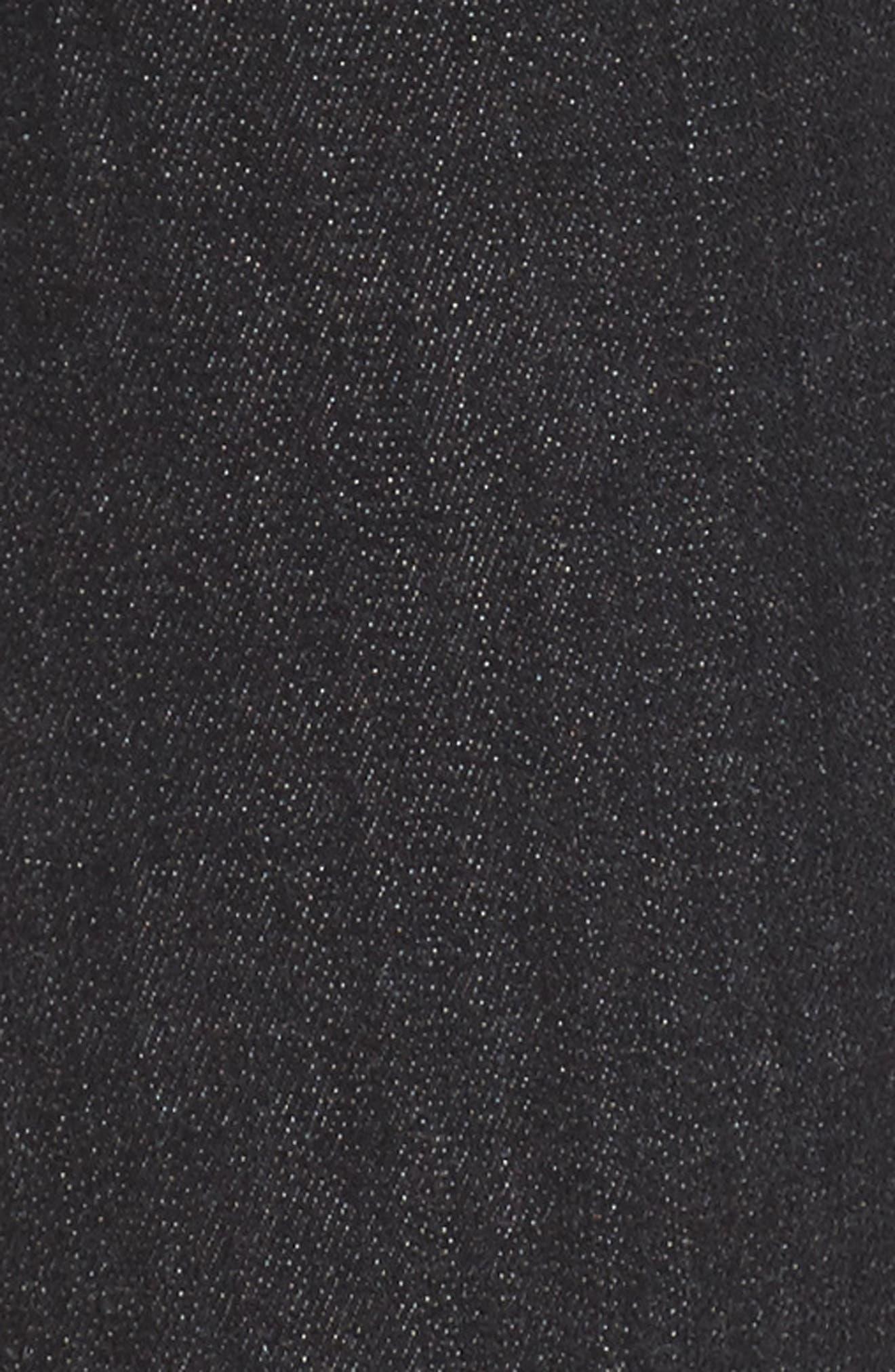 b(air) - Roxanne Ankle Zip Jeans,                             Alternate thumbnail 5, color,                             Bair Noir
