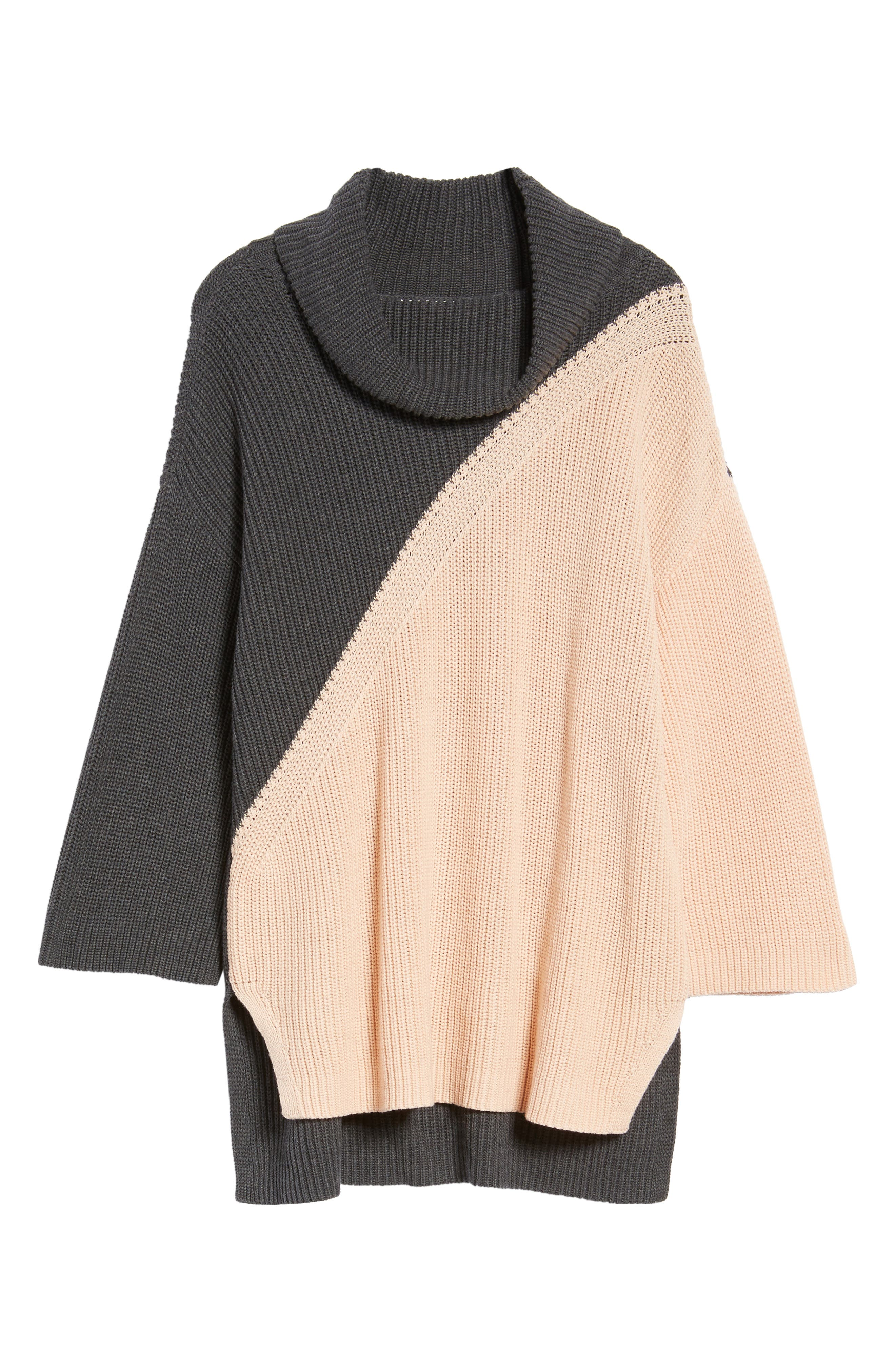 Alternate Image 6  - Chaus Colorblock Cowl Neck Sweater
