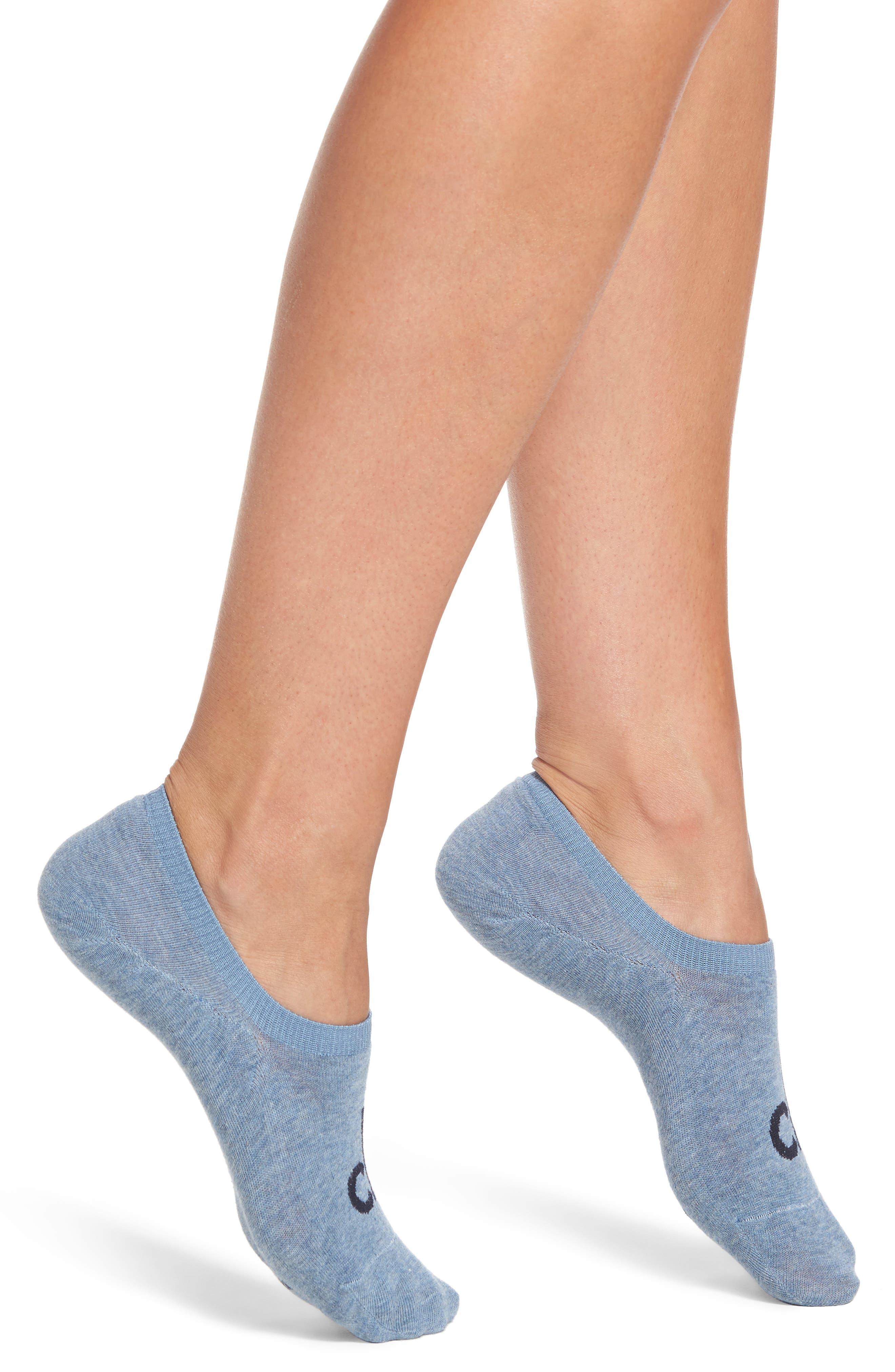 Alternate Image 1 Selected - Calvin Klein Logo No-Show Socks