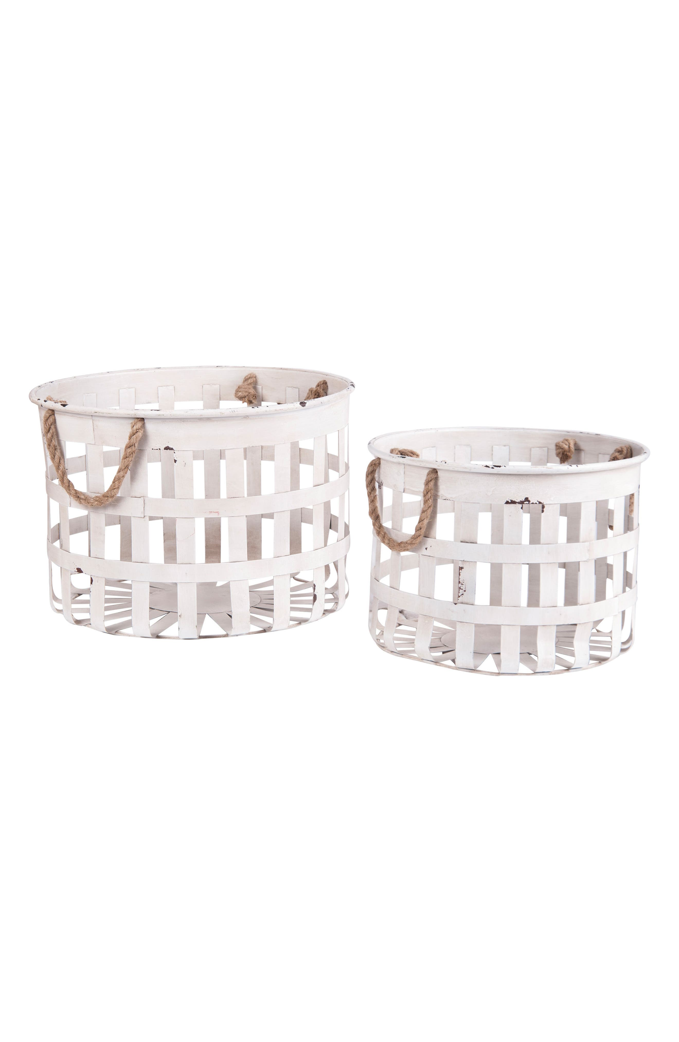 Foreside Set of 2 Nesting Baskets