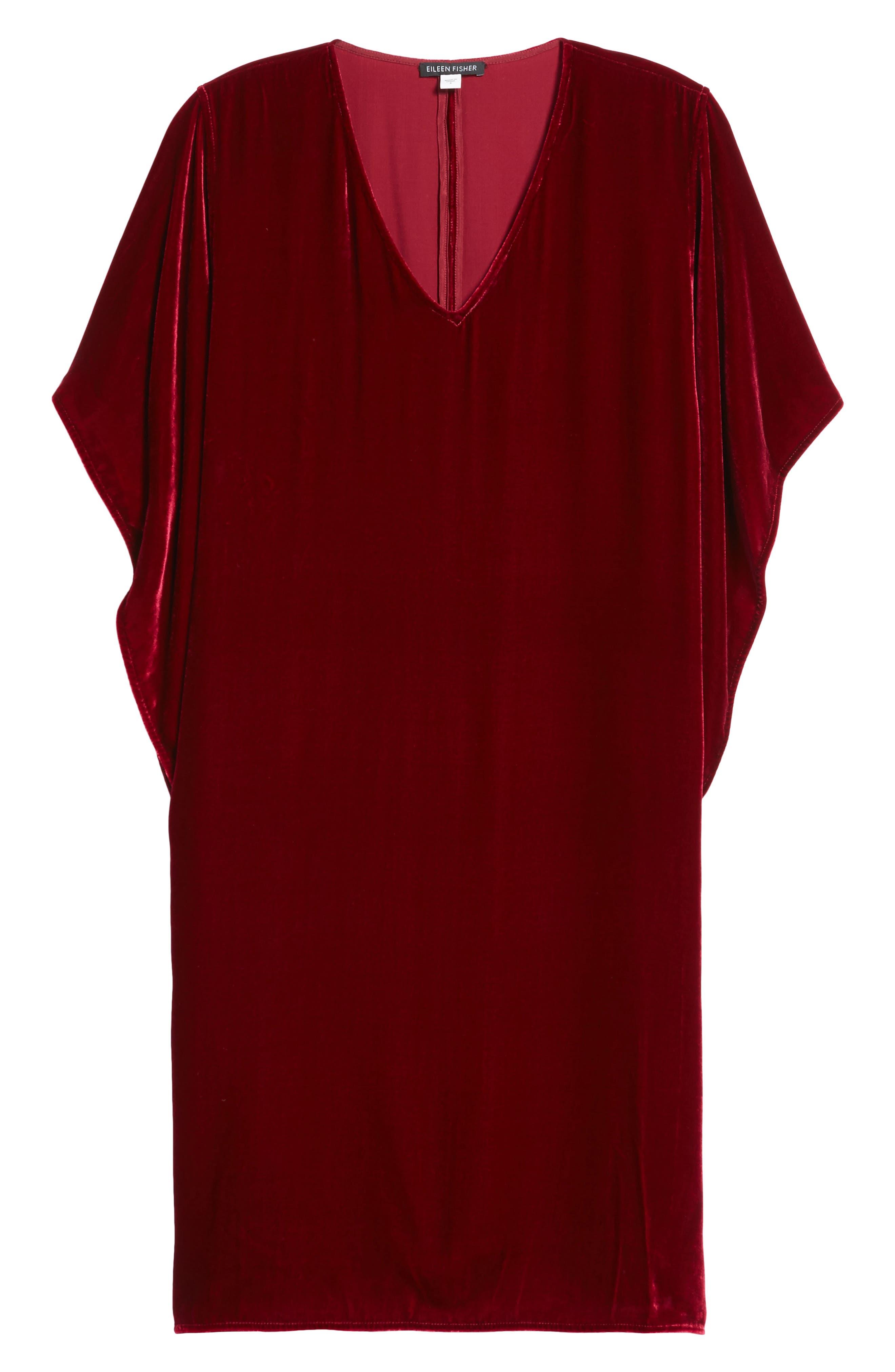 Alternate Image 6  - Eileen Fisher V-Neck Velvet Kimono Dress