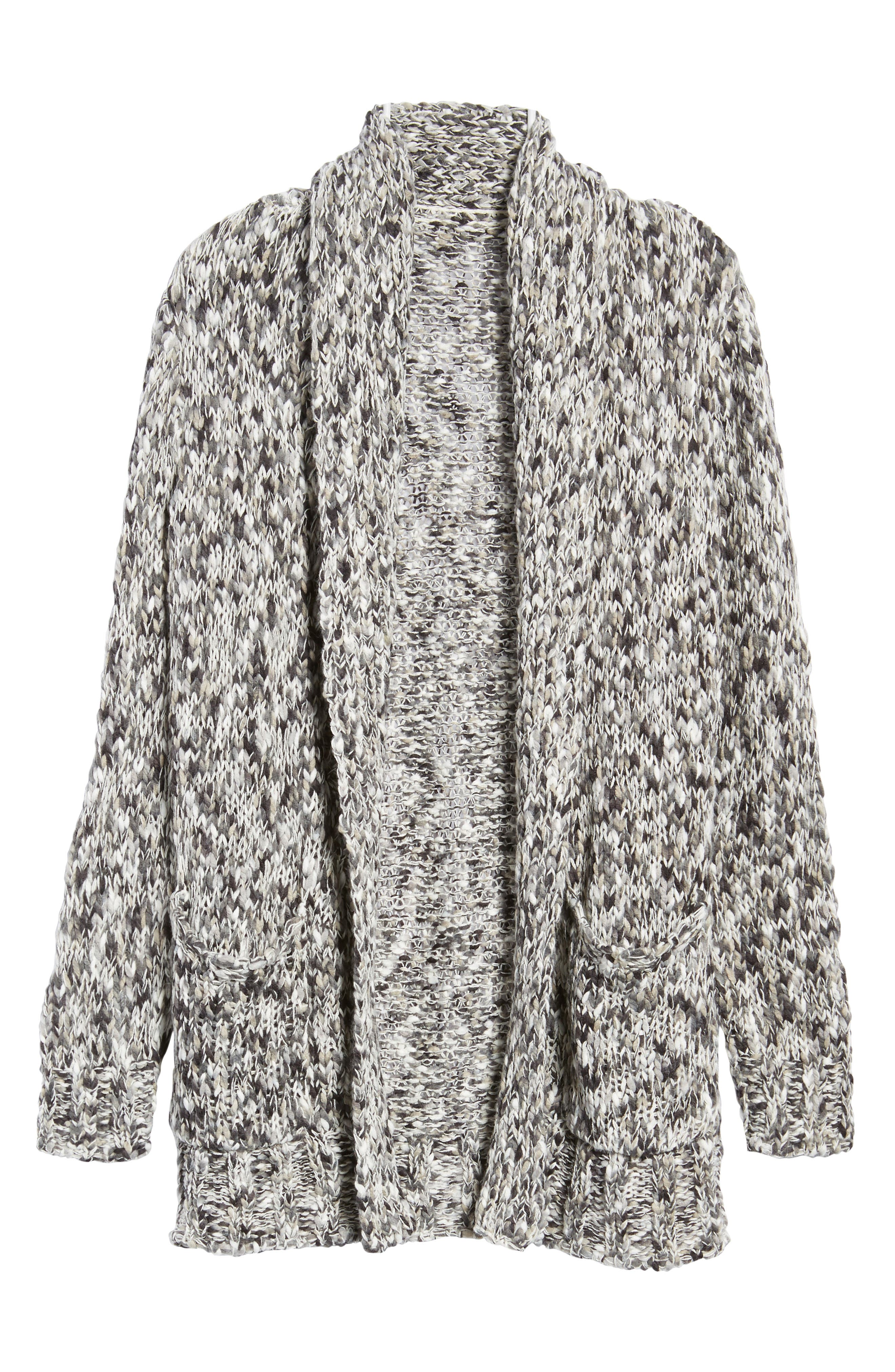 Press Confetti Knit Shawl Collar Sweater