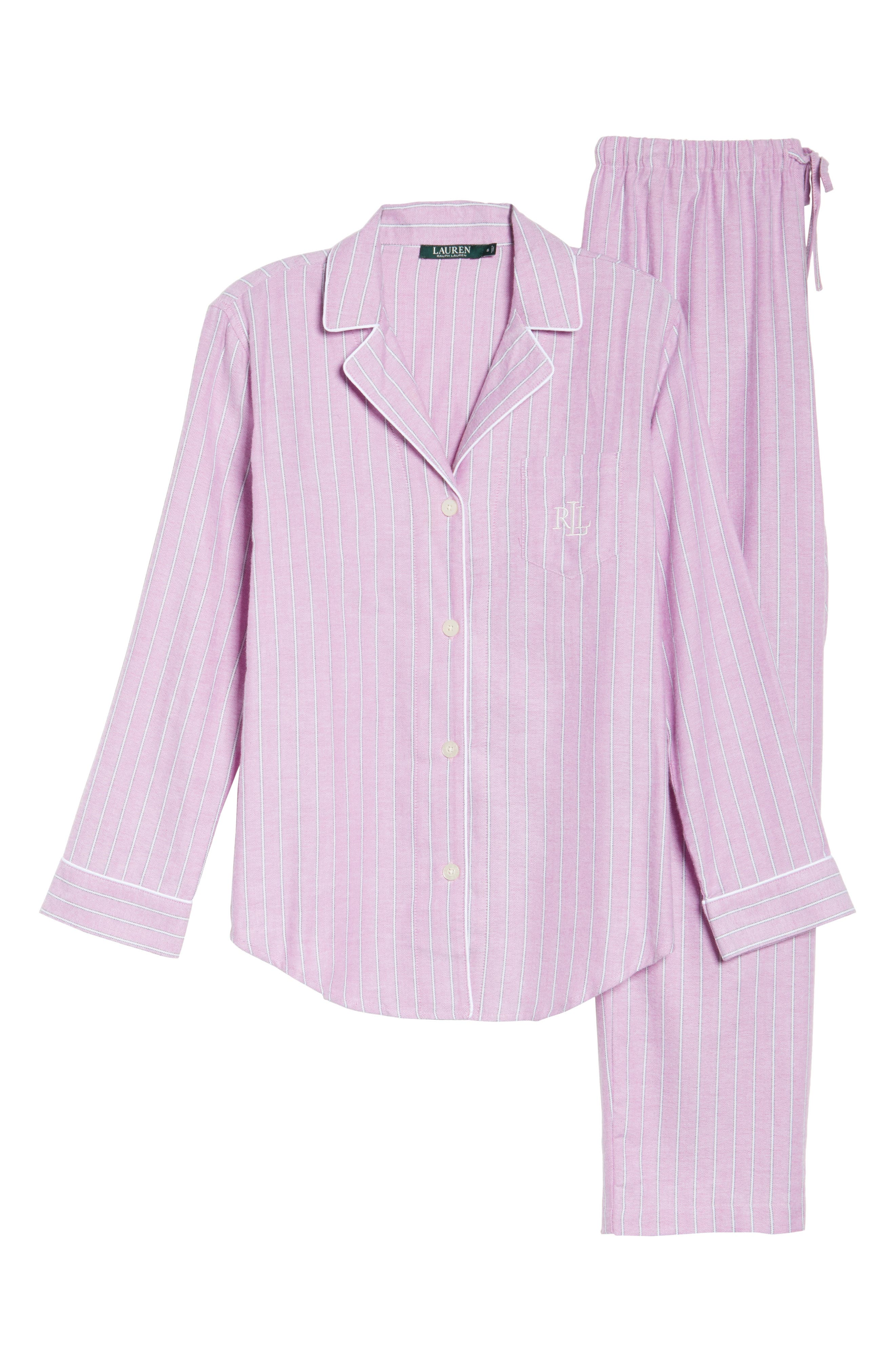 Alternate Image 4  - Lauren Ralph Lauren Long Pajamas