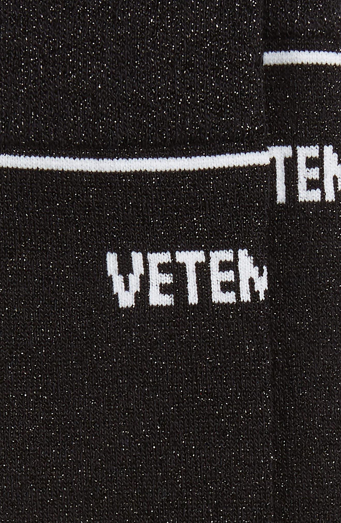 Metallic Logo Socks,                             Alternate thumbnail 2, color,                             Black