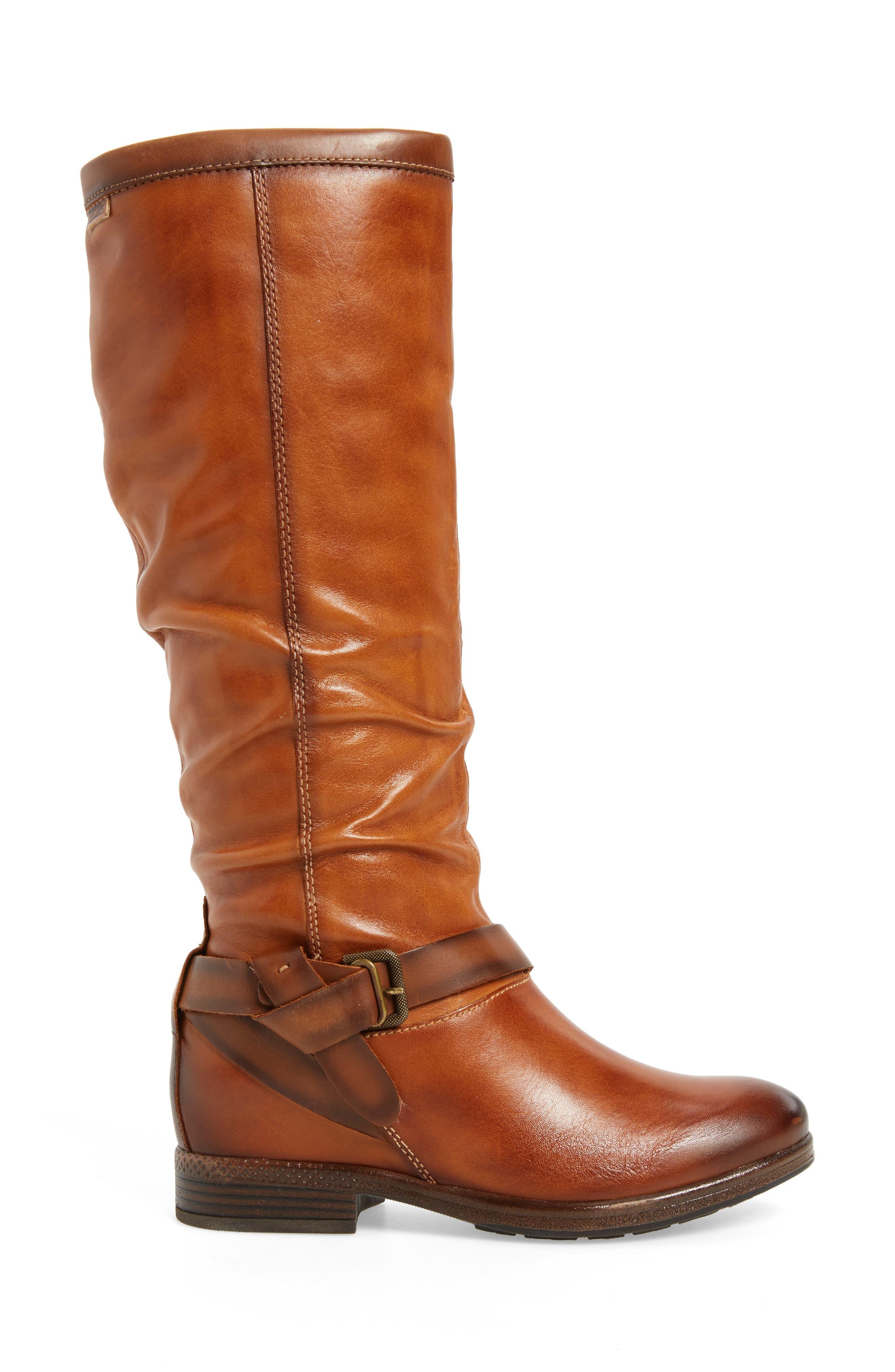 Ordino Knee High Boot,                             Alternate thumbnail 3, color,                             Brandy Cuero Leather