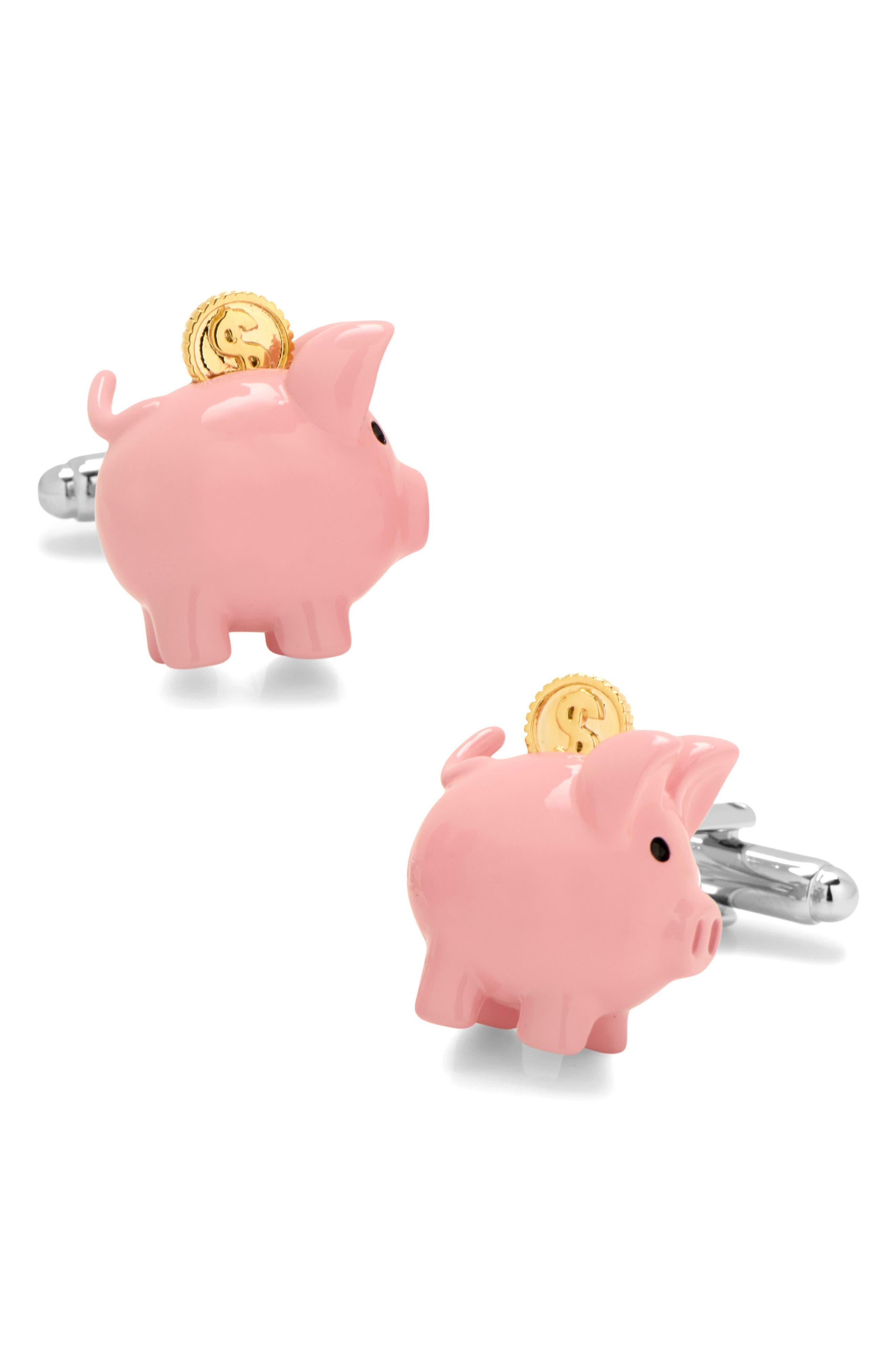 Main Image - Cufflinks Inc. 3D Piggy Bank Cuff Links