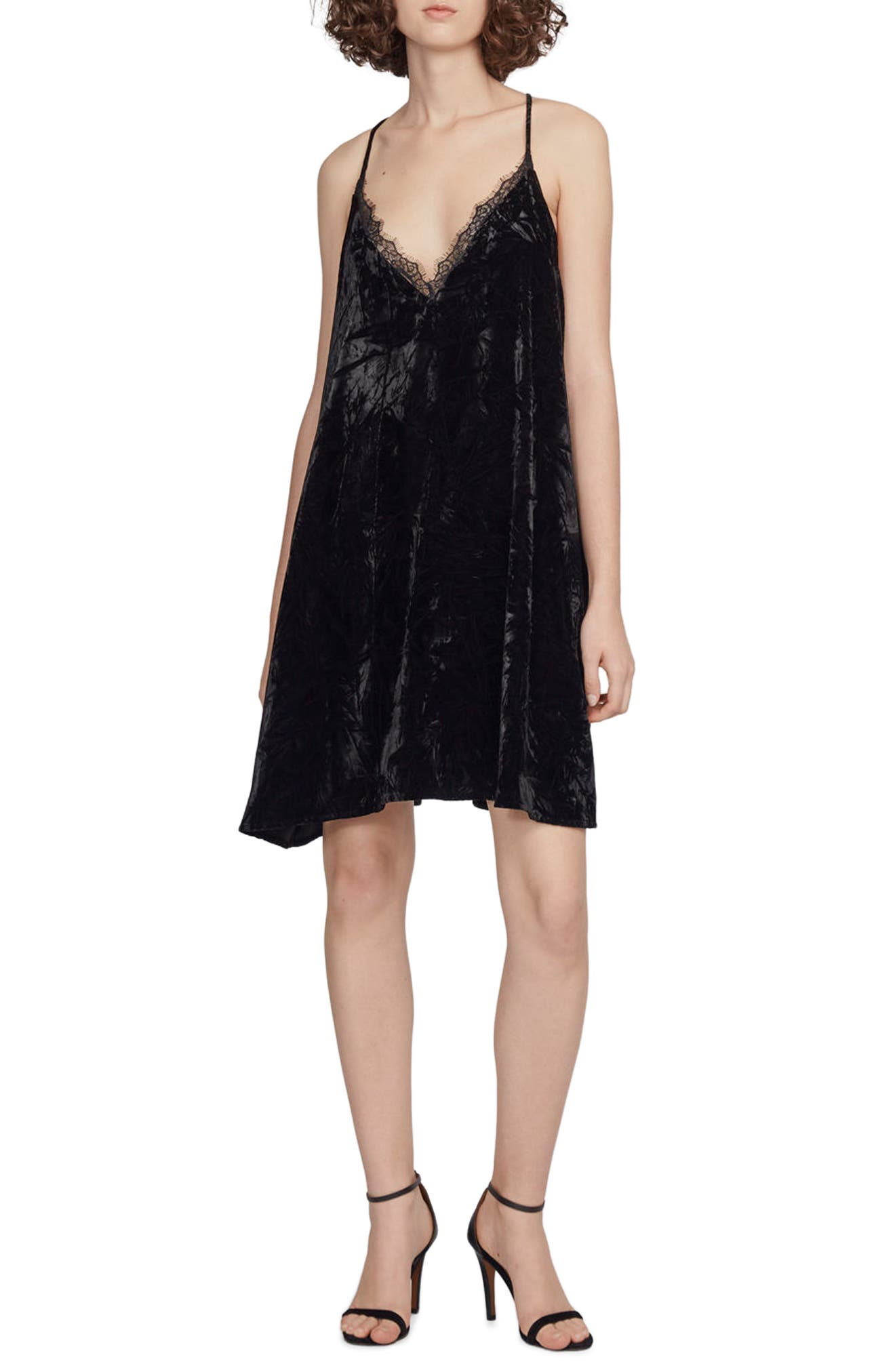 Main Image - French Connection Lorraine Velvet Slipdress