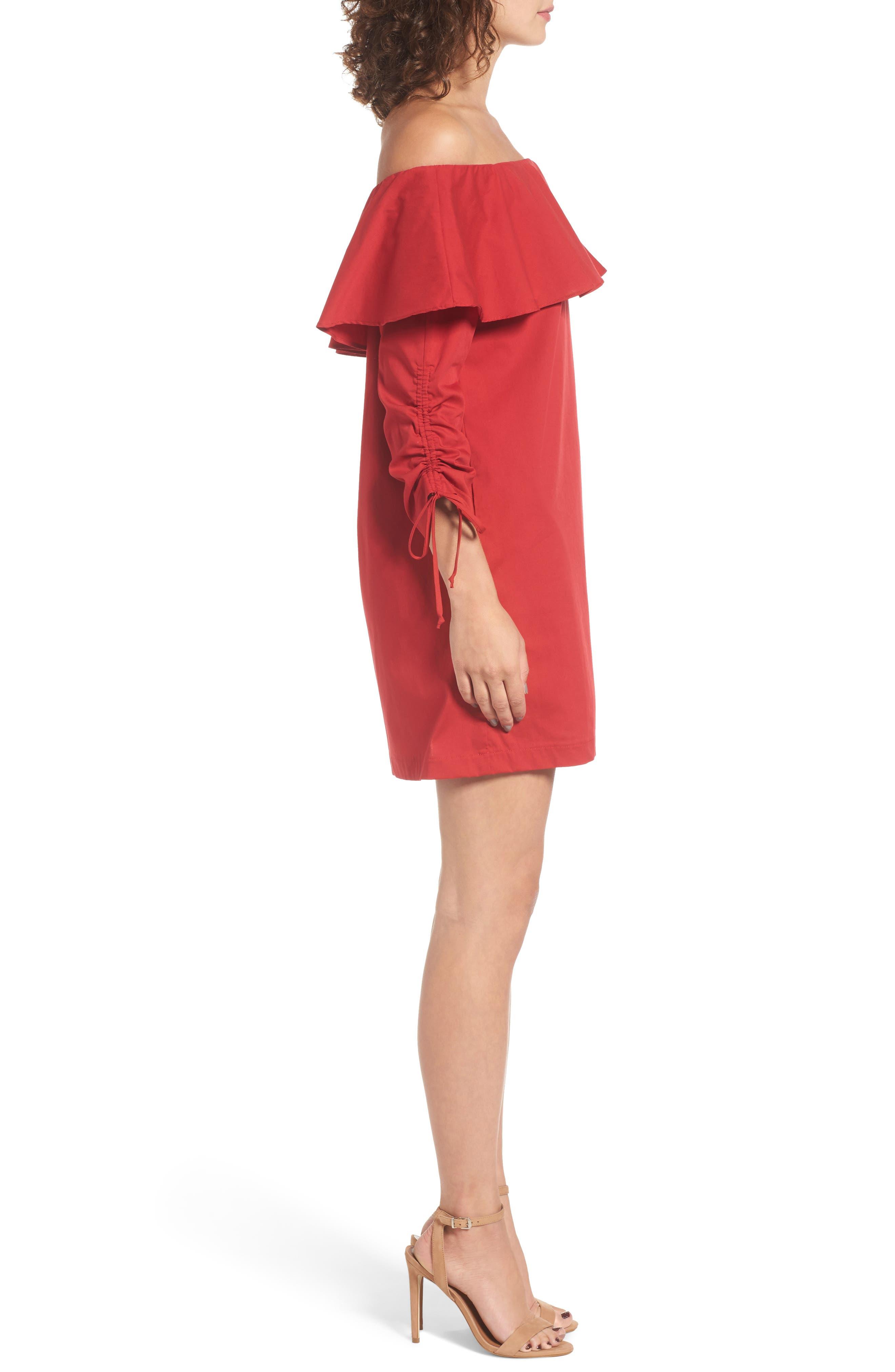 Alternate Image 3  - Socialite Cinch Sleeve Off the Shoulder Dress