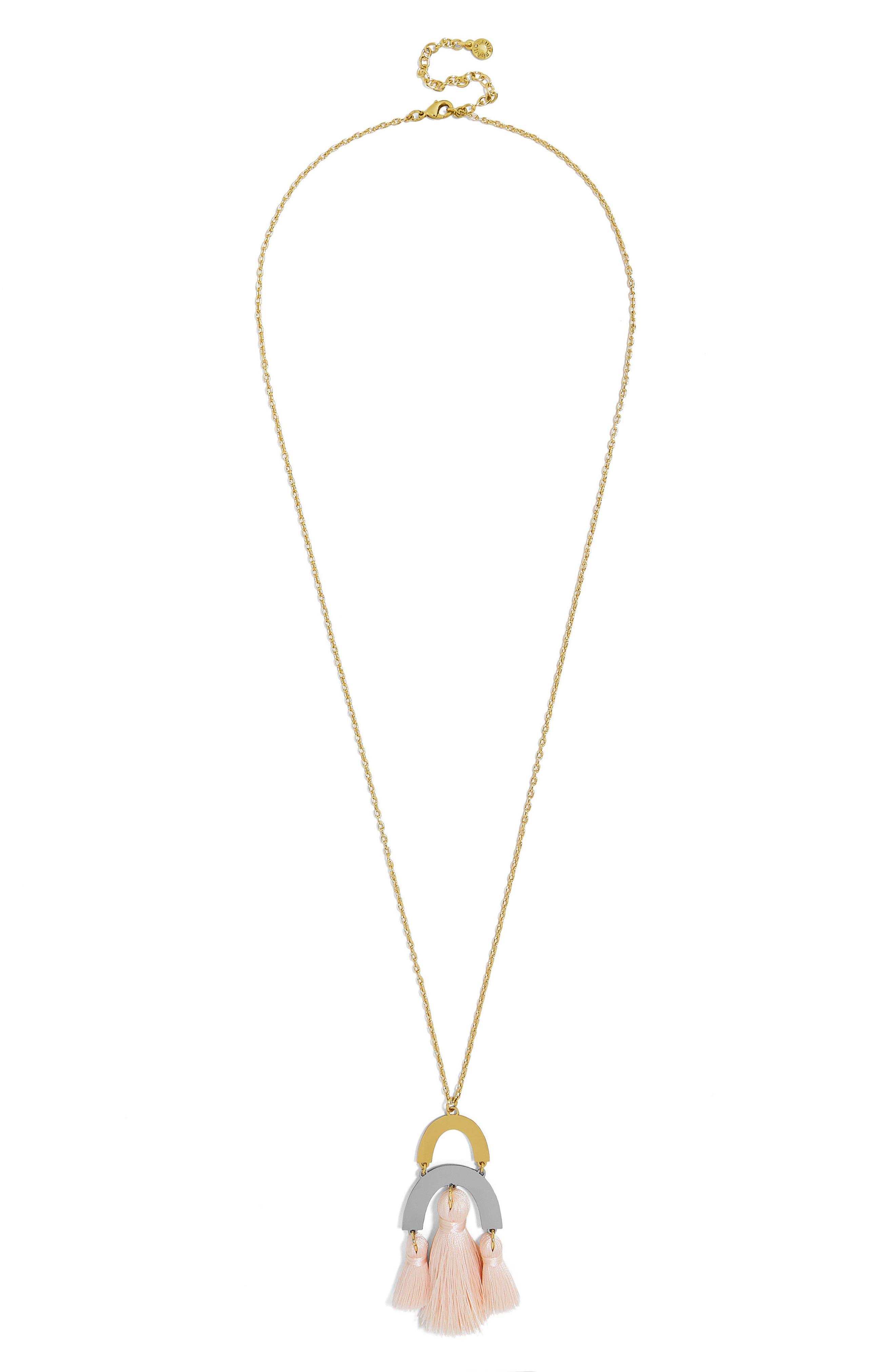 BuableBar Shamia Tassel Pendant Necklace,                             Alternate thumbnail 2, color,                             Blush